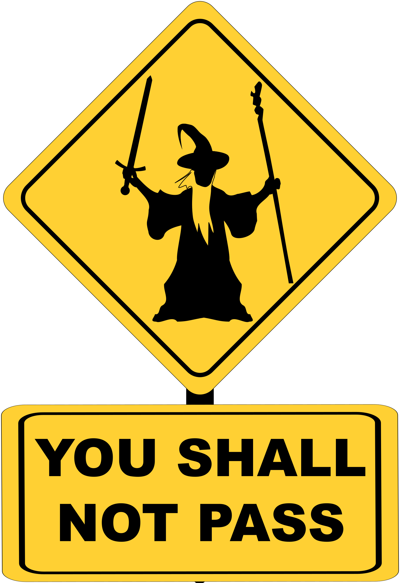 You shall not pass traffic sign by Juhele