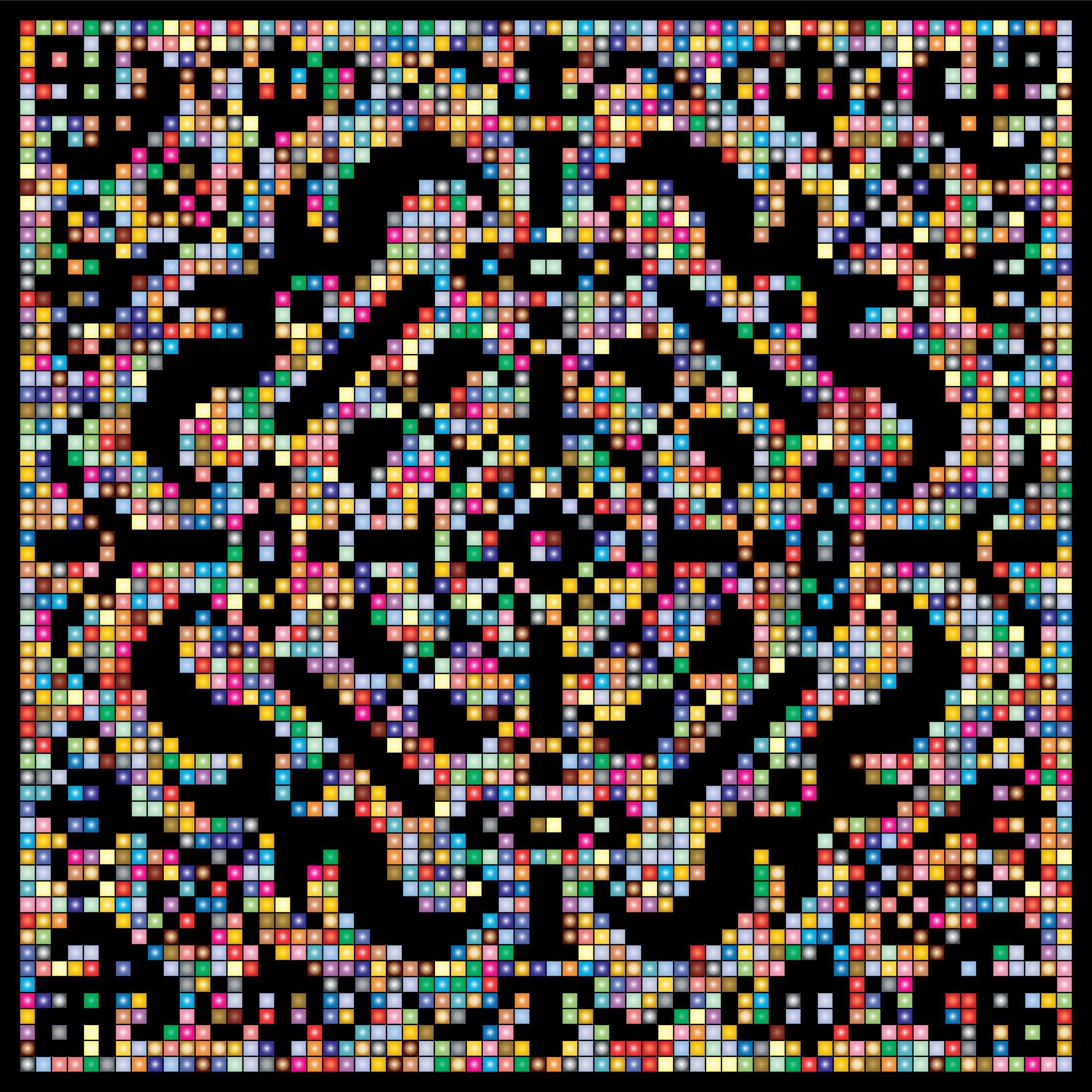 Prismatic Metropolitan Museum Pattern Recreated 3 by GDJ