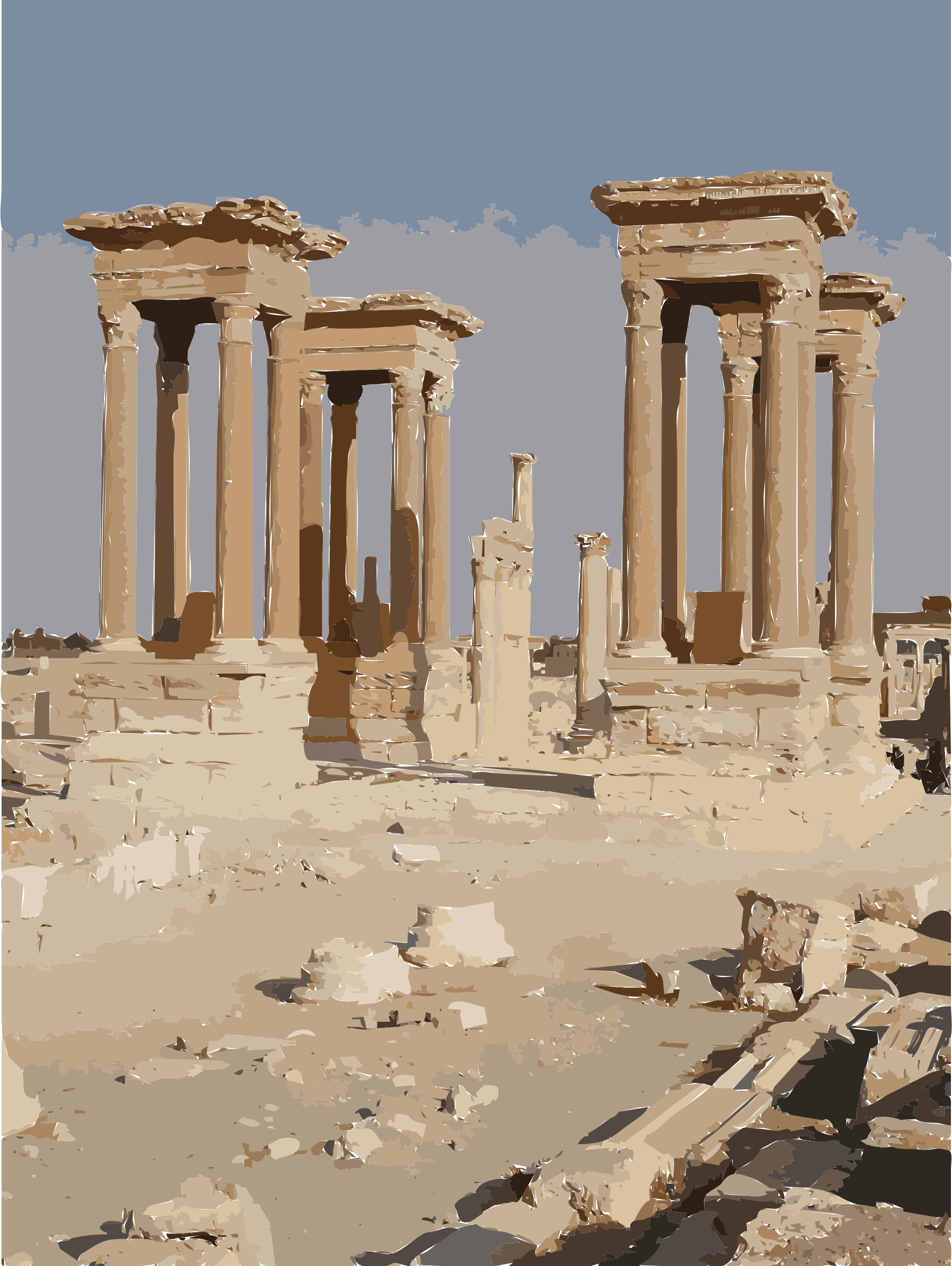 Palmyra Tetrapylon Request by rejon