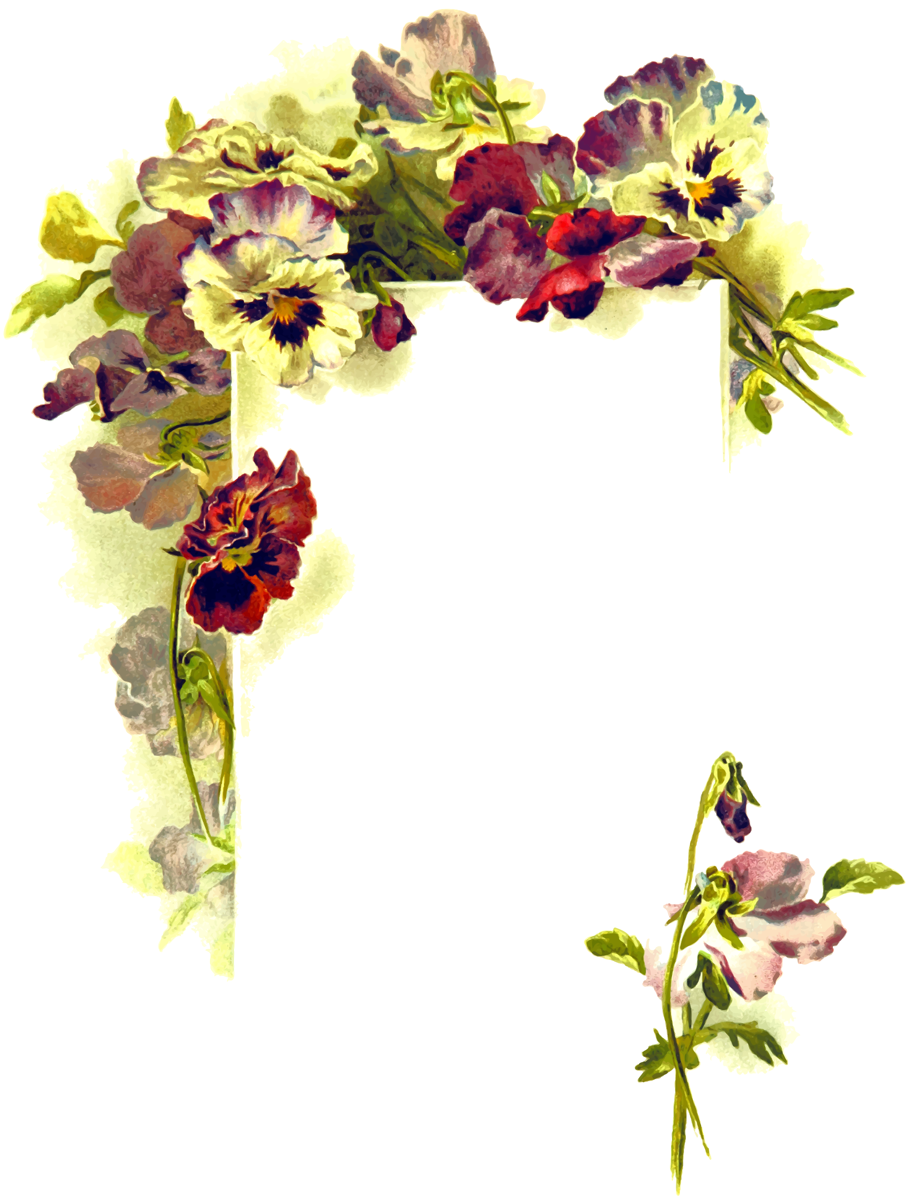 Floral page by Firkin