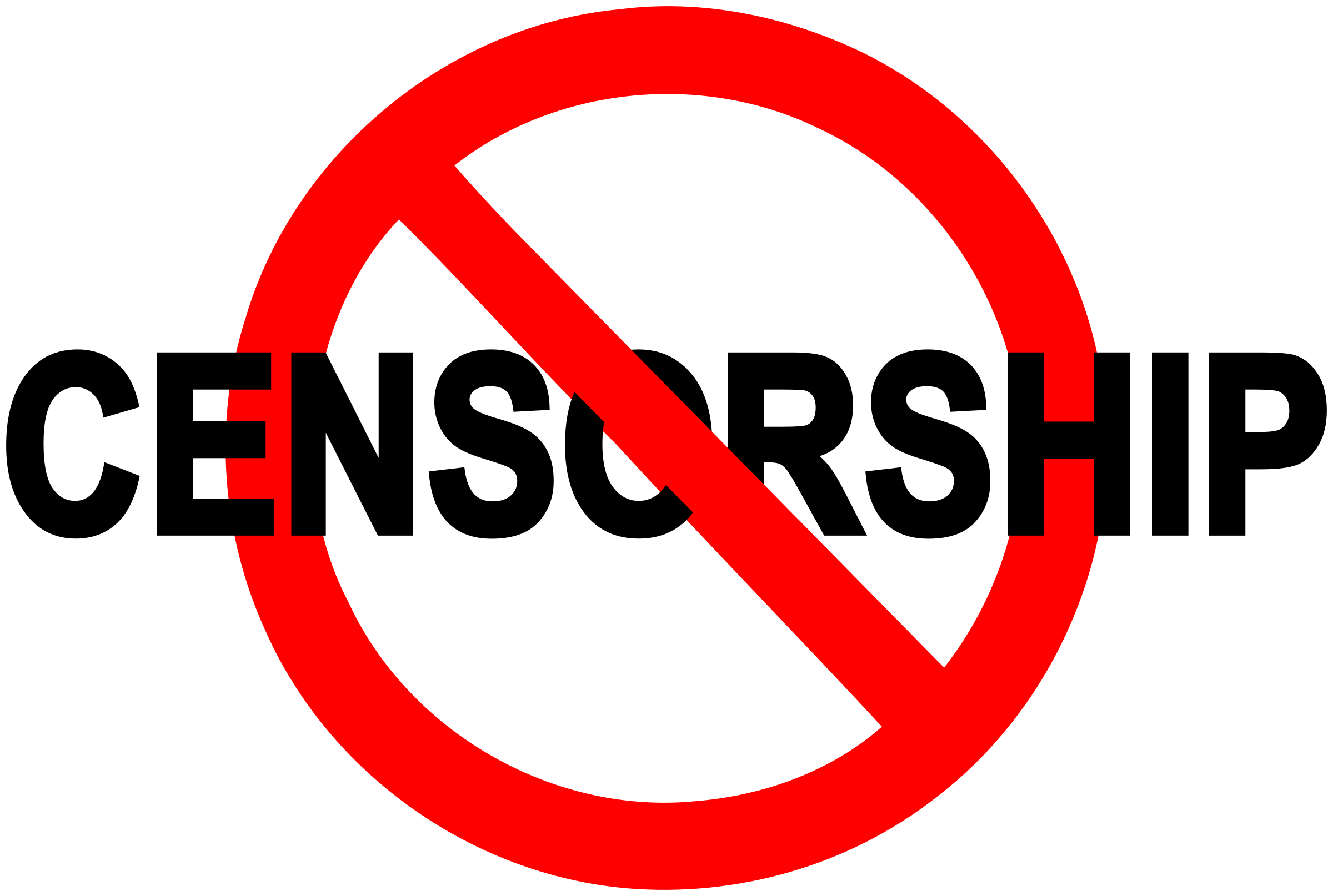 No censorship sign by Juhele