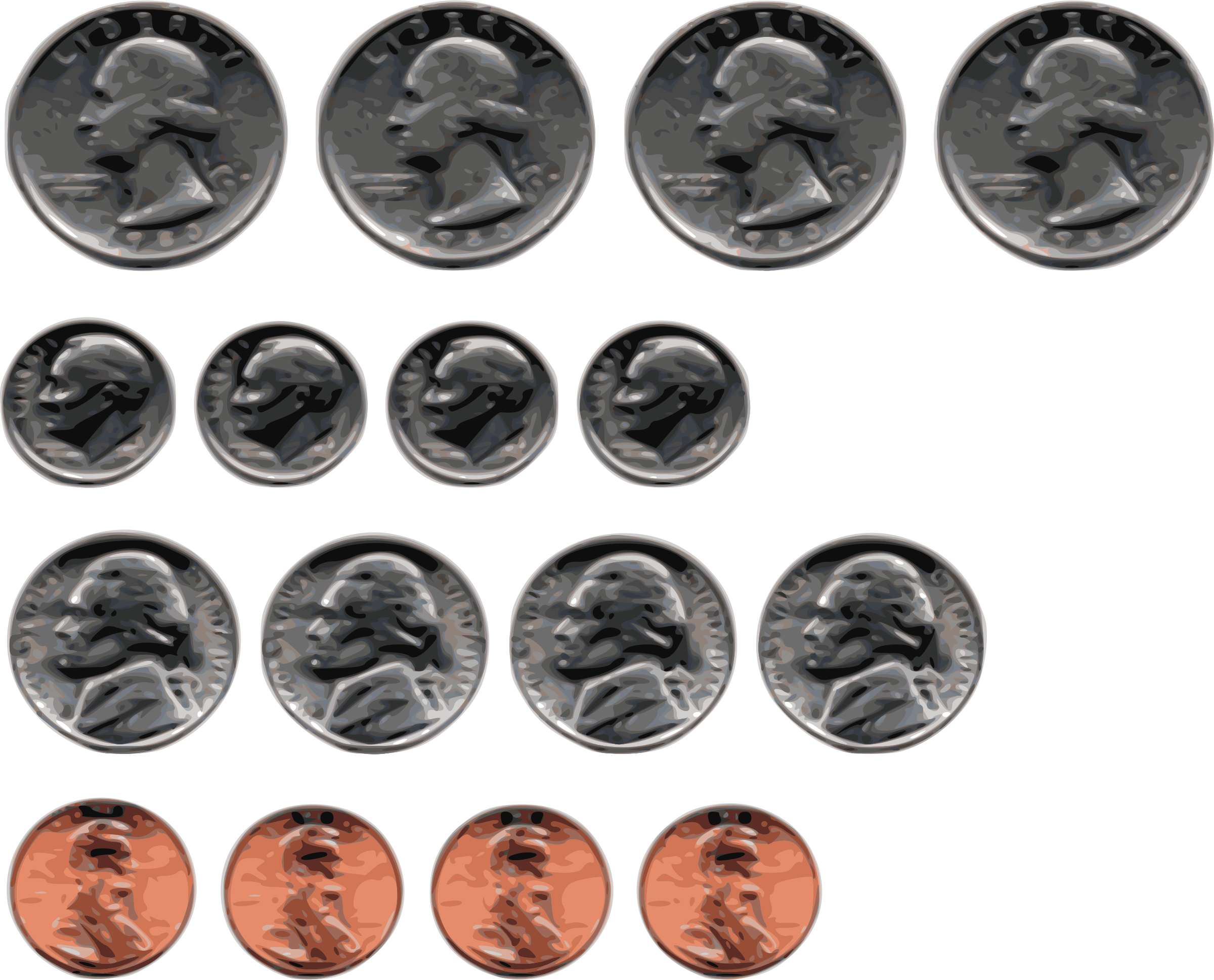 clipart us coins