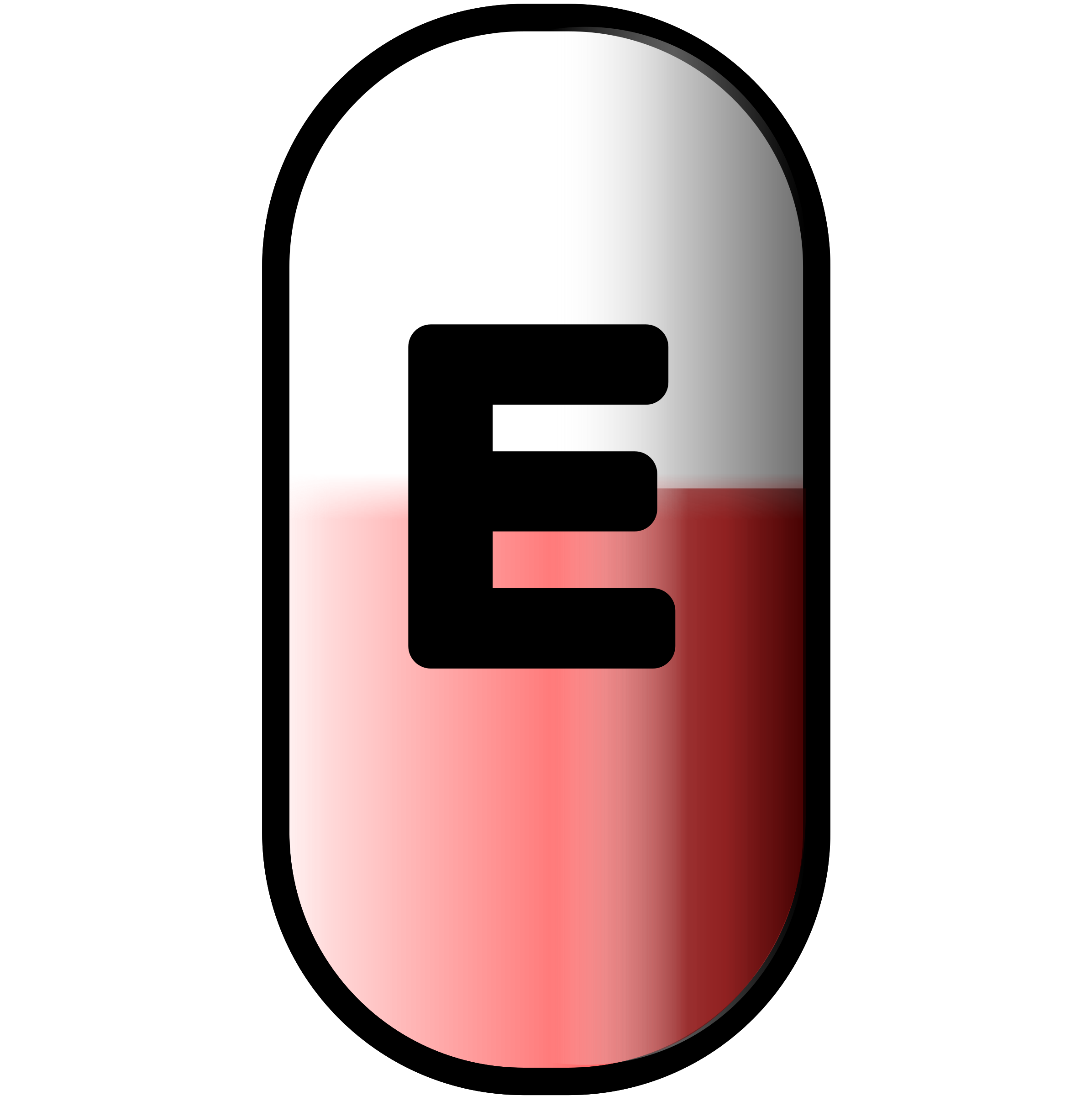 white-red e-pill by ashed
