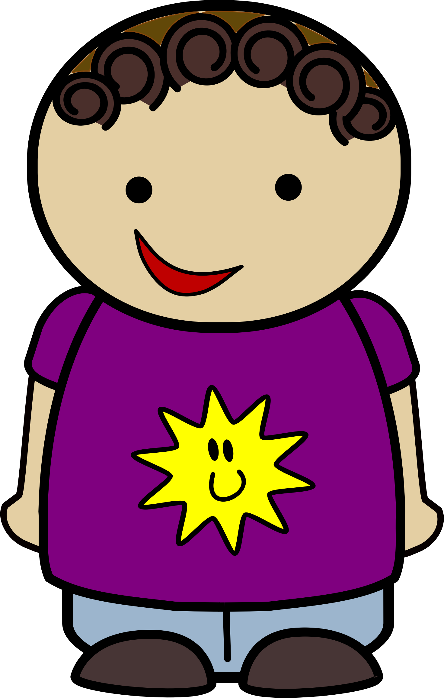 Clipart - Happy Boy Sun Shirt