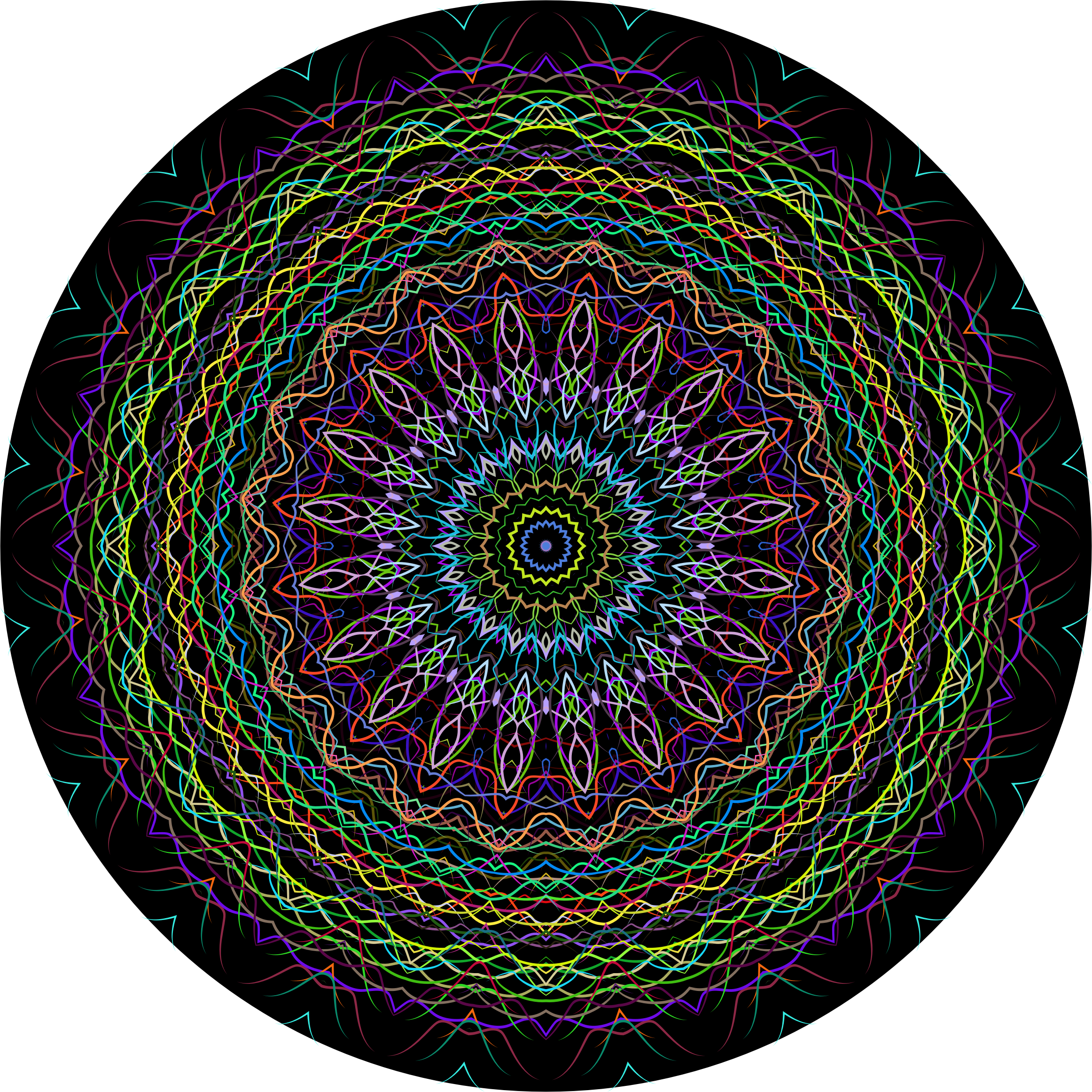Prismatic Line Art Mandala 2 by GDJ