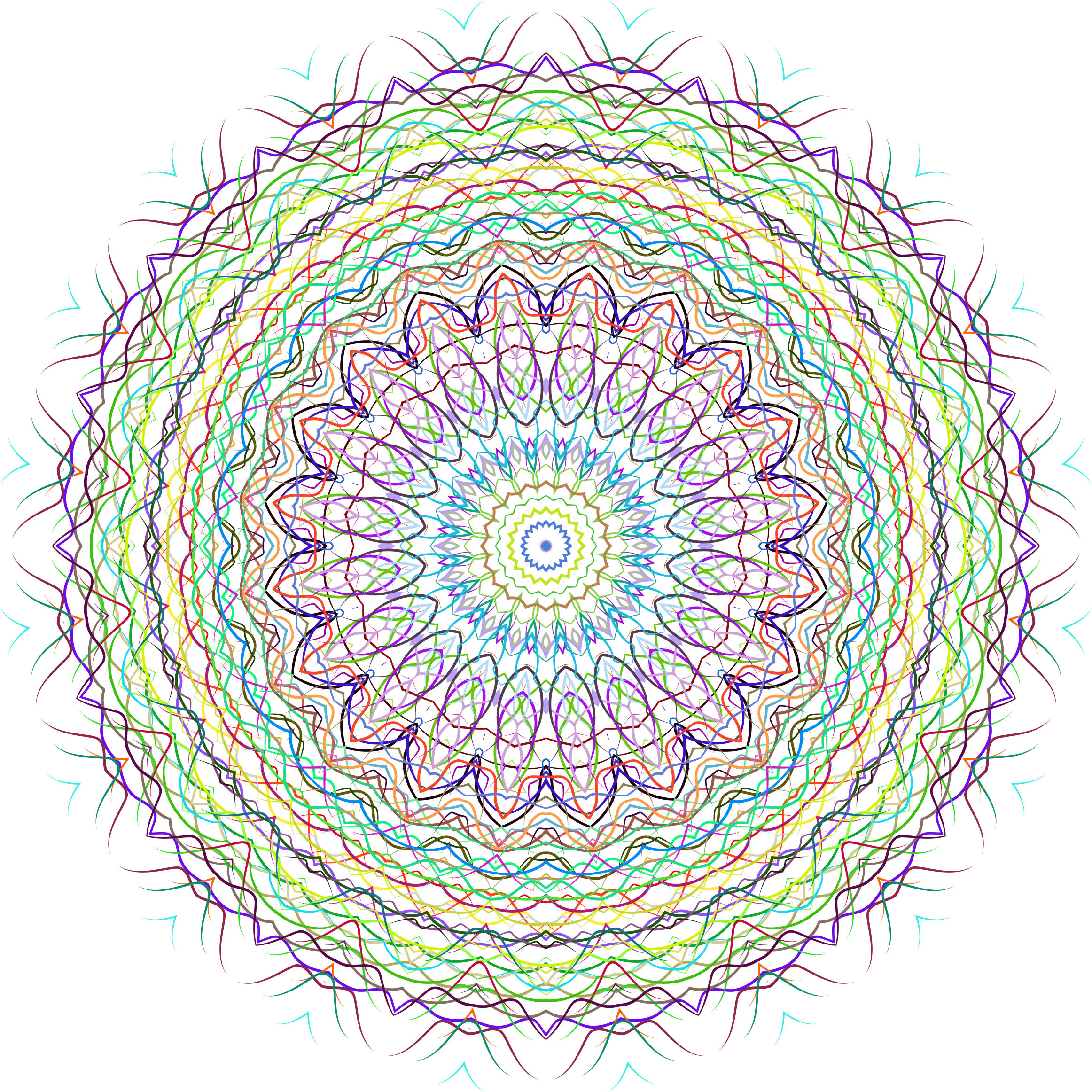 Prismatic Line Art Mandala 2 No Background by GDJ