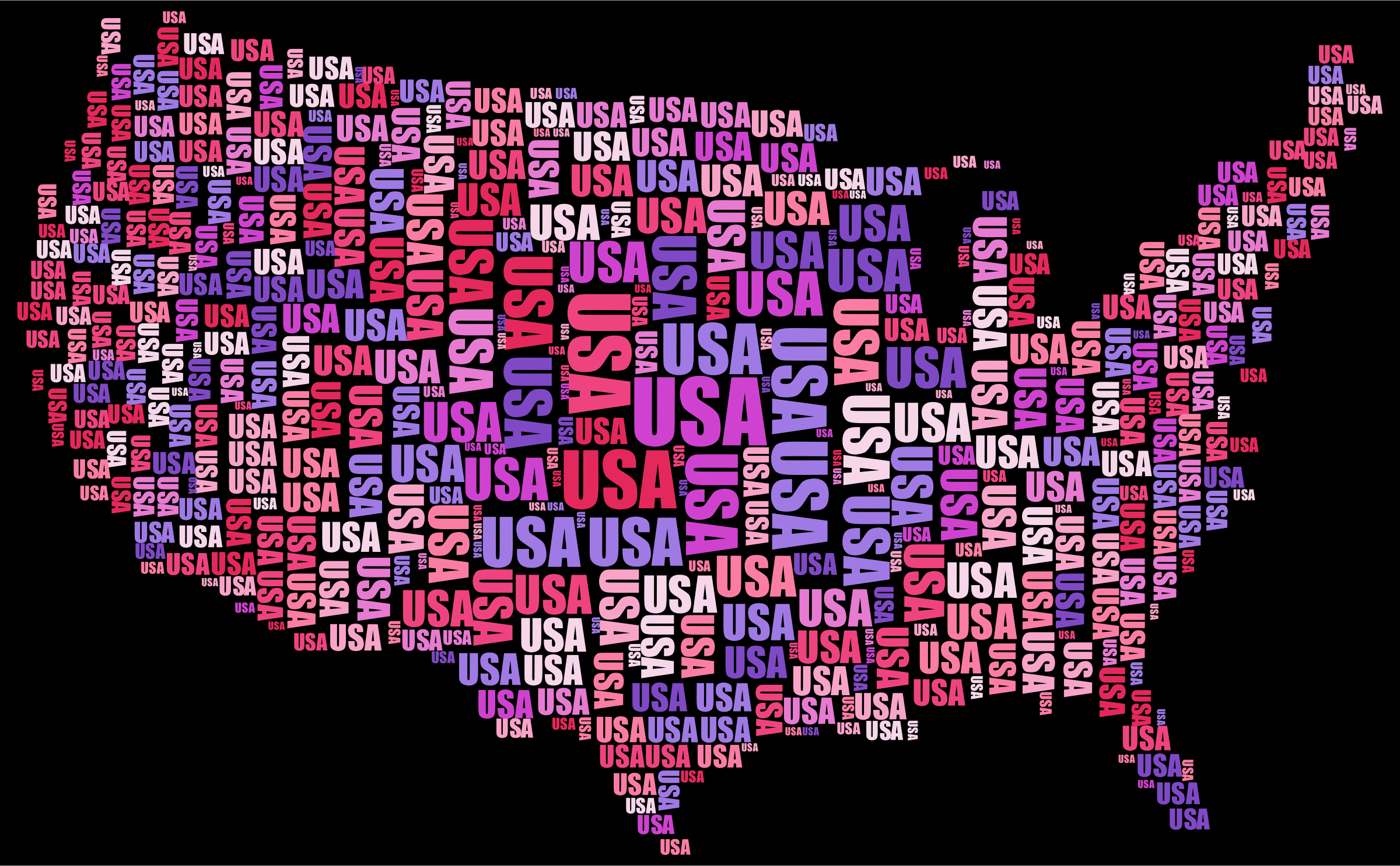 USA Word Cloud by GDJ