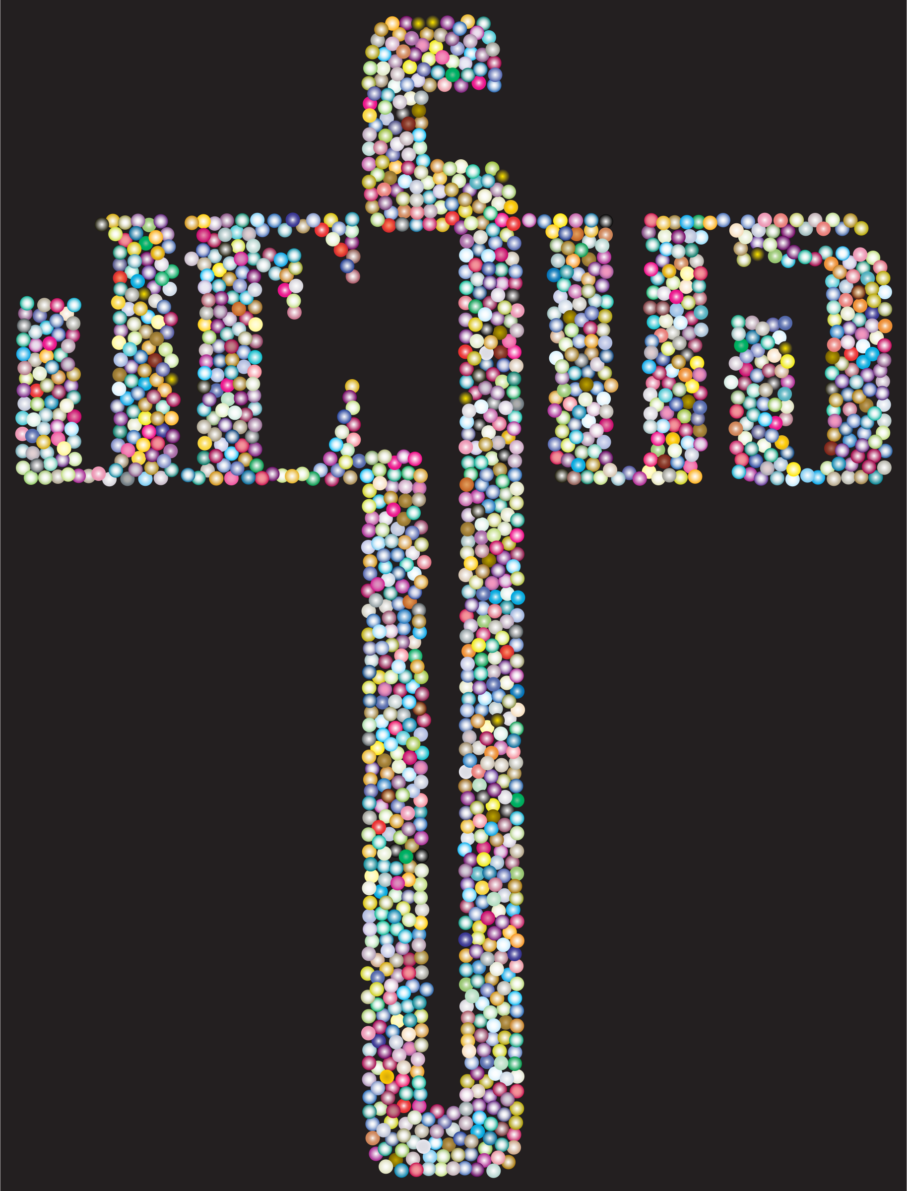 Prismatic Jesus Cross Typography Dots by GDJ