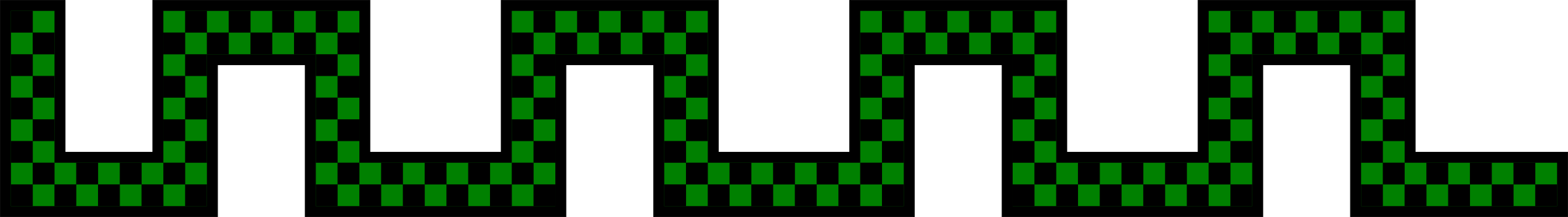Divider - checked green snake shape by Gerald_G