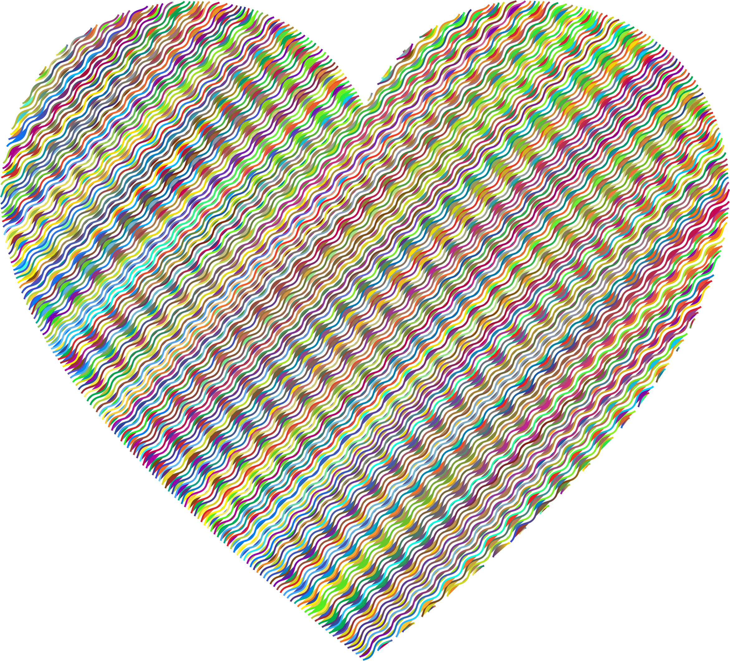Prismatic Wavy Heart No Background by GDJ