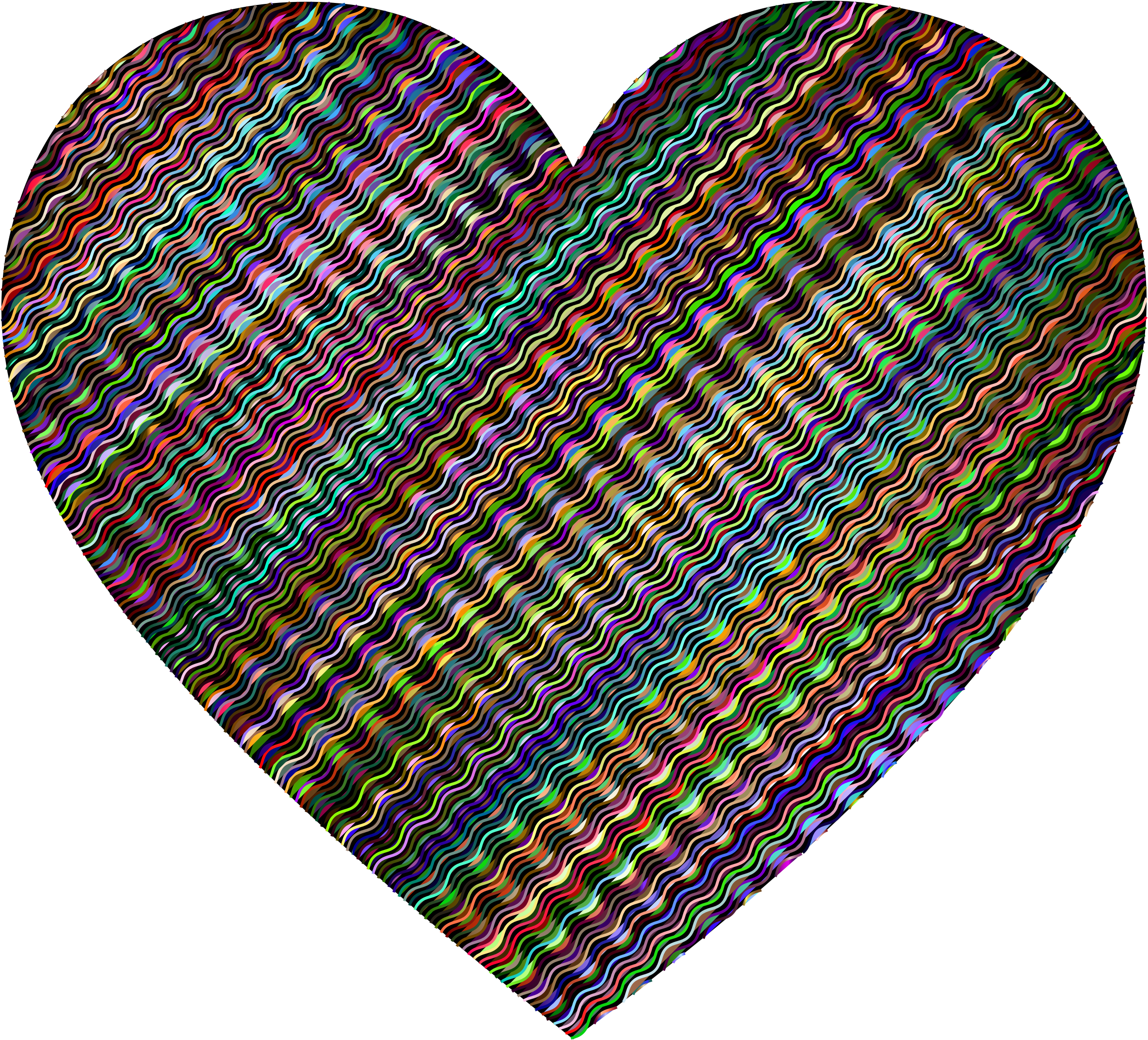 Prismatic Wavy Heart 2 by GDJ