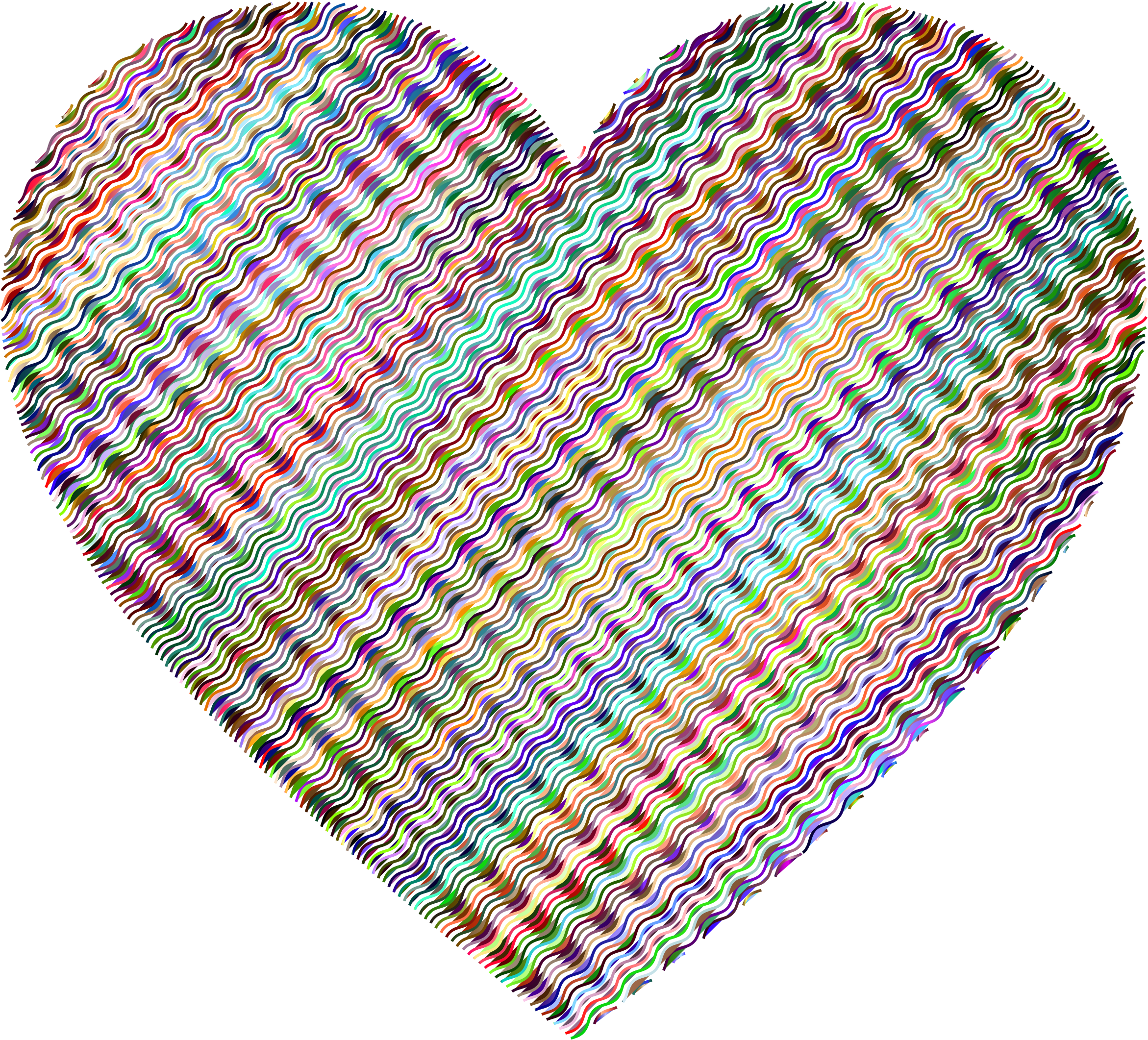 Prismatic Wavy Heart 2 No Background by GDJ