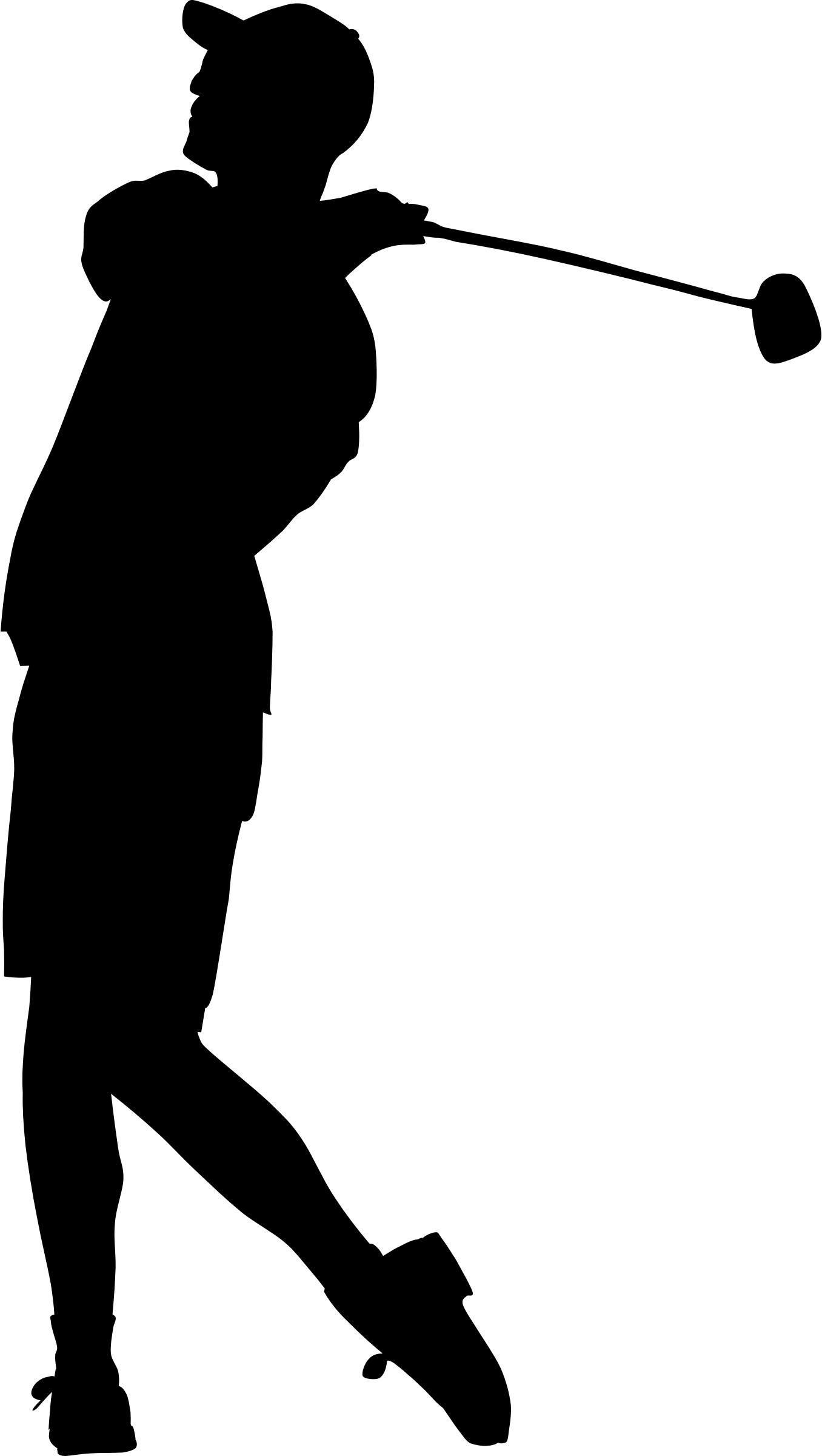 Clipart Golfer Silhouette