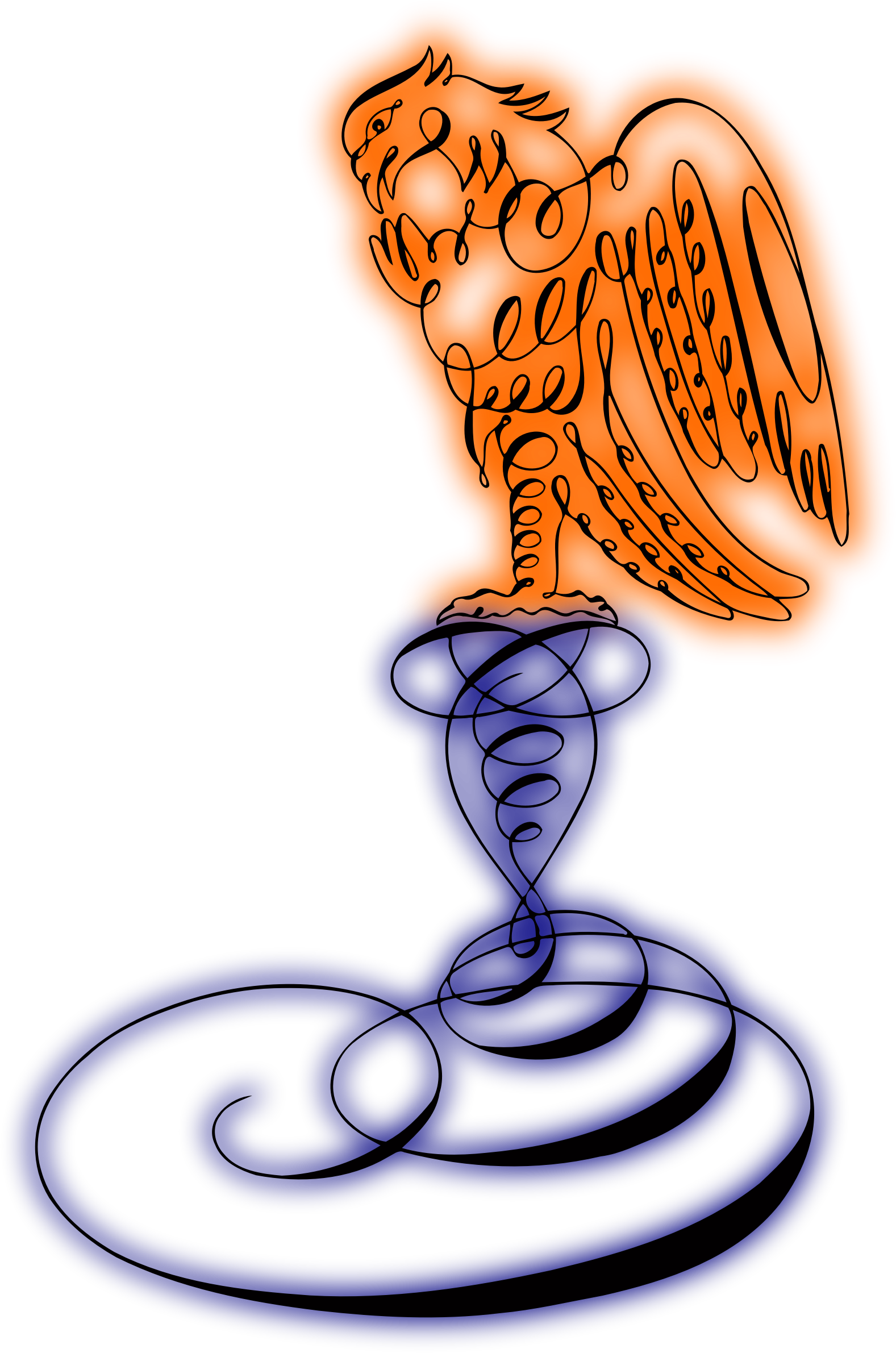 Abstract eagle (colour) by Firkin