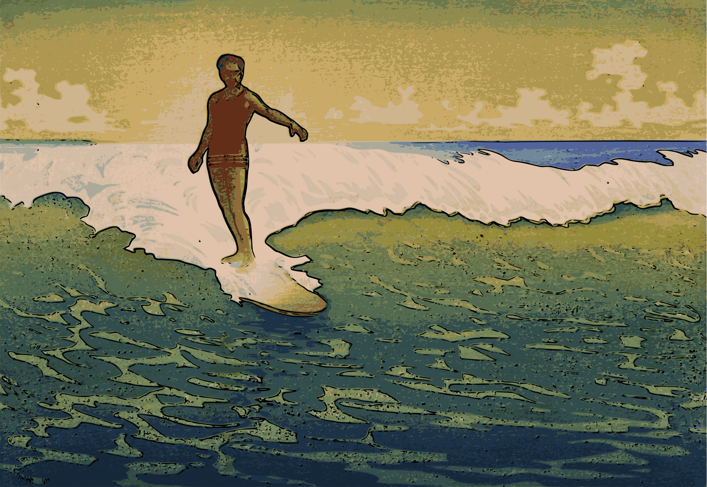 Surfing in Hawaii by j4p4n