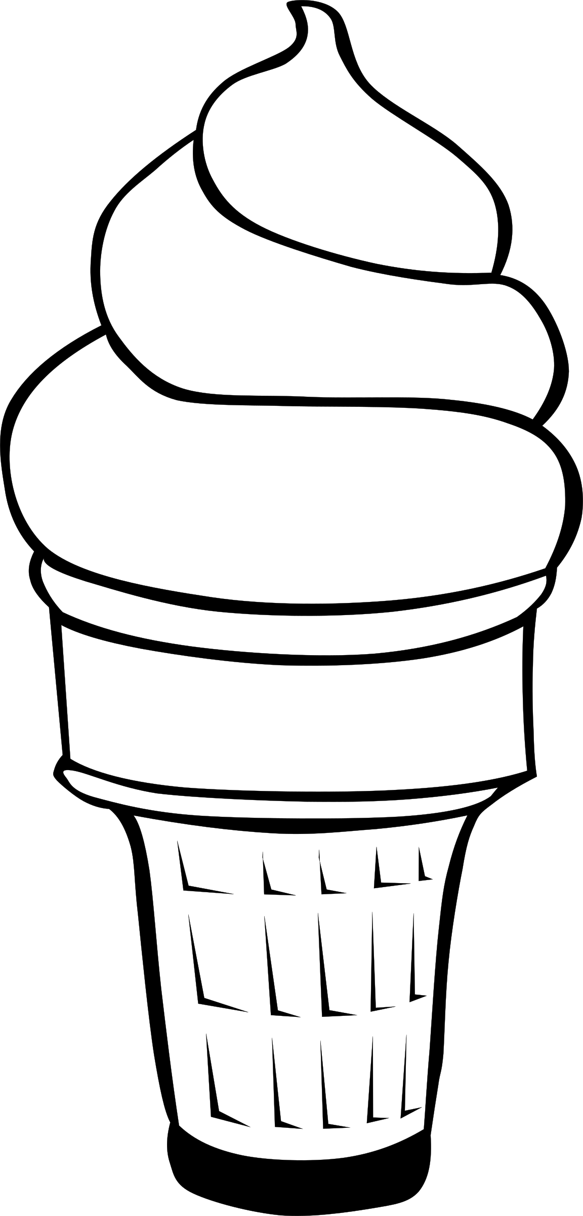 Line Art Ice Cream : Clipart ice cream line art