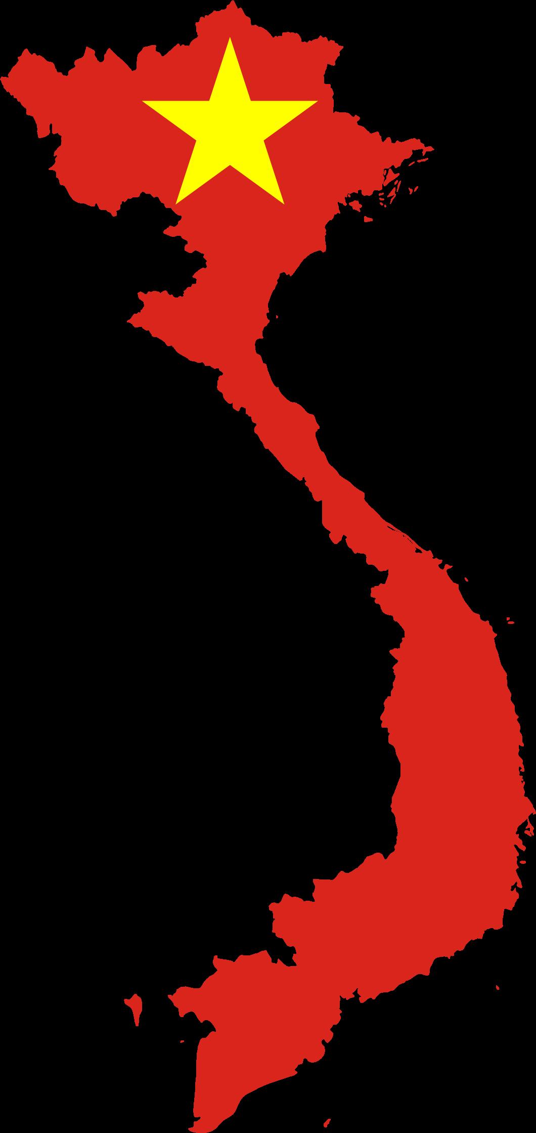 Clipart Vietnam Map Flag - Vietnam map outline