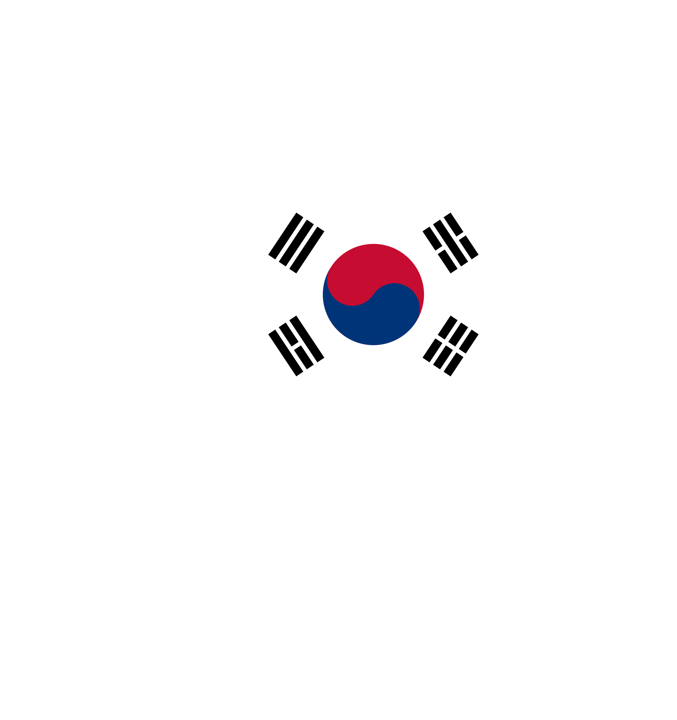 South Korea Map Flag by GDJ