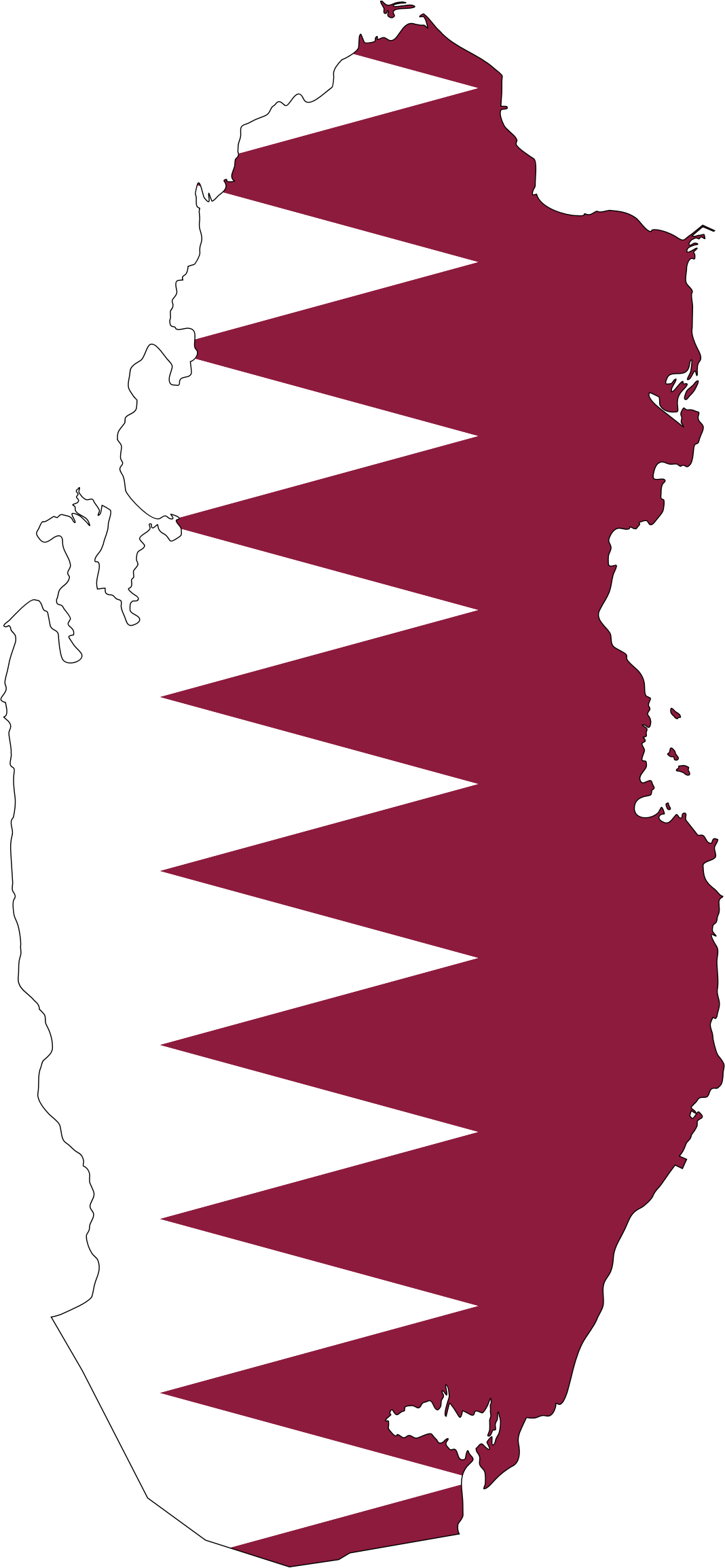 Qatar Map Flag With Stroke by GDJ