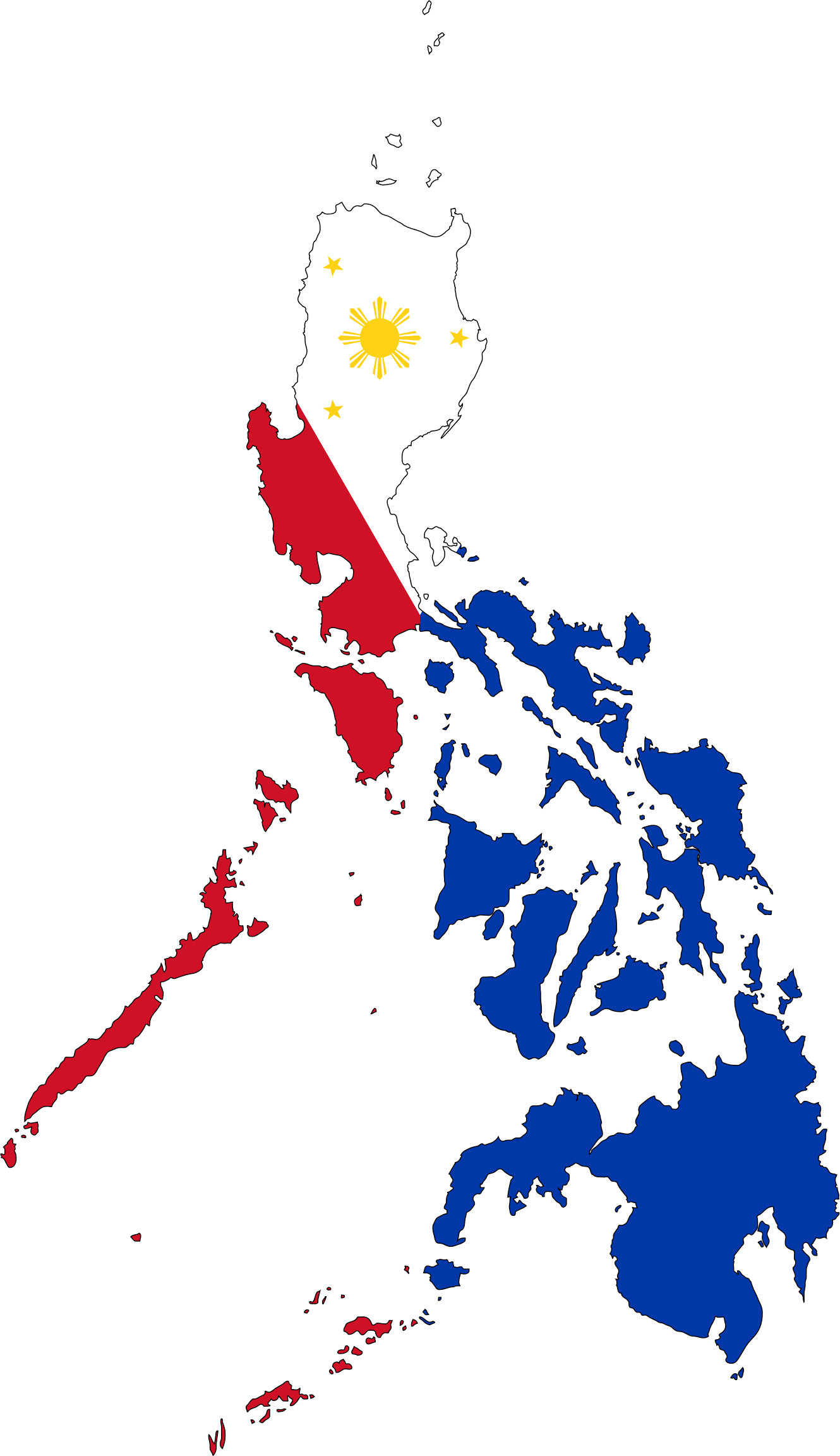 Philippines Map Flag With Stroke by GDJ