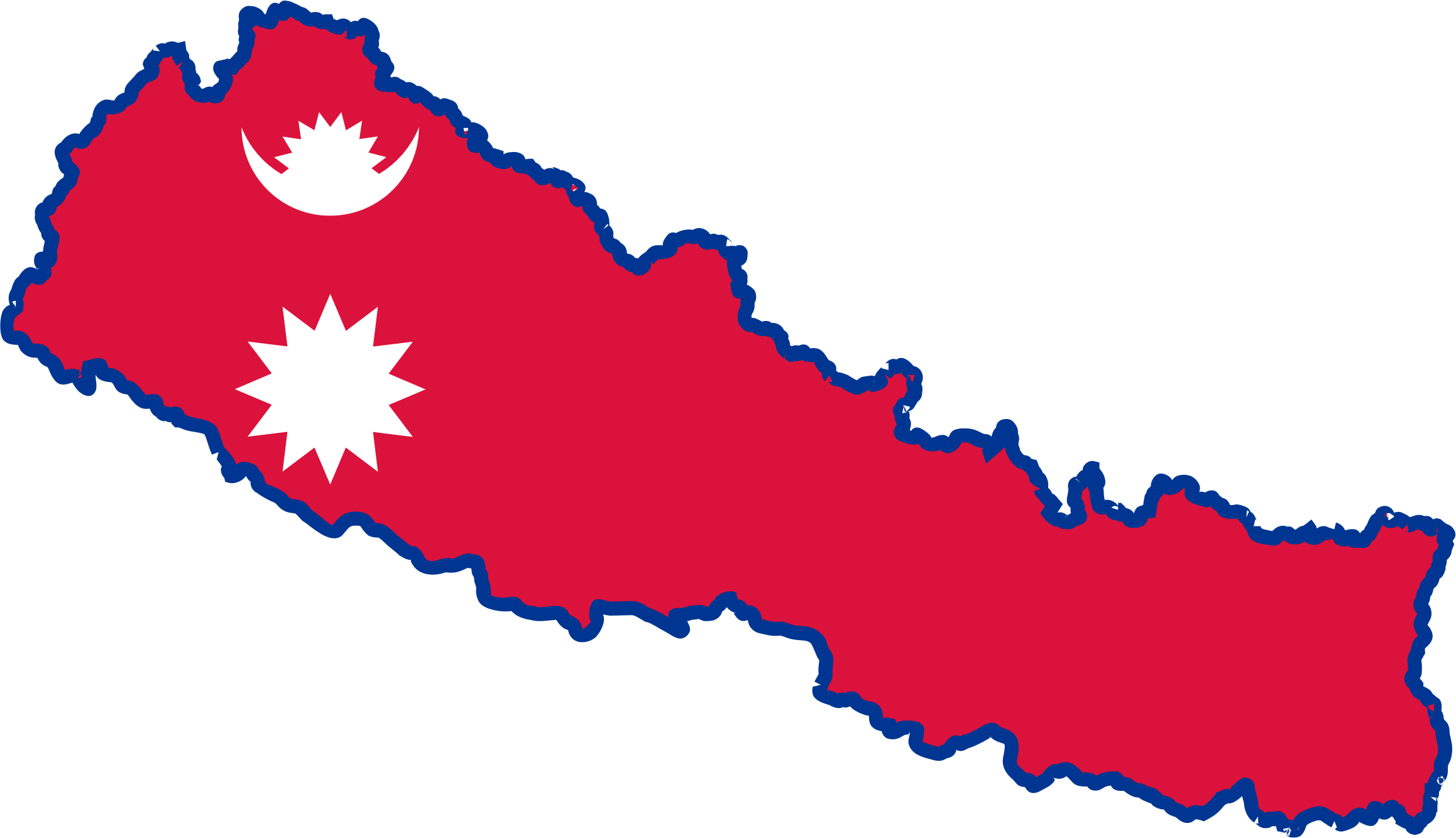 Clipart Nepal Map Flag - Nepal map
