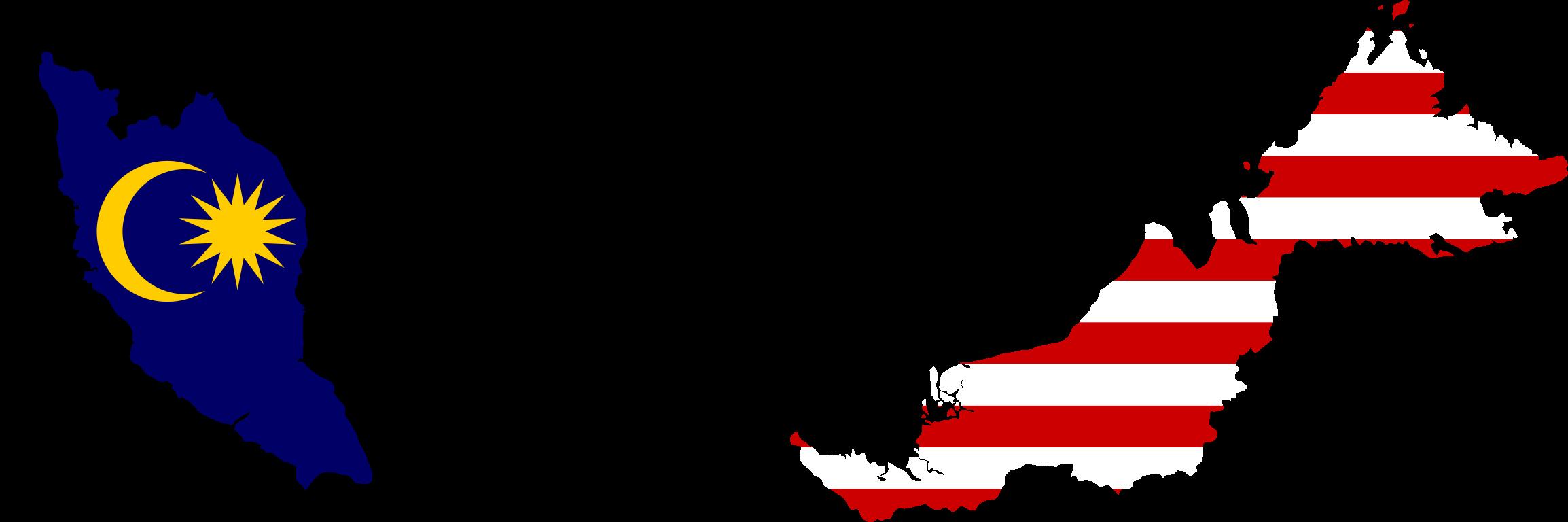 Clipart Malaysia Map Flag - Malaysia map