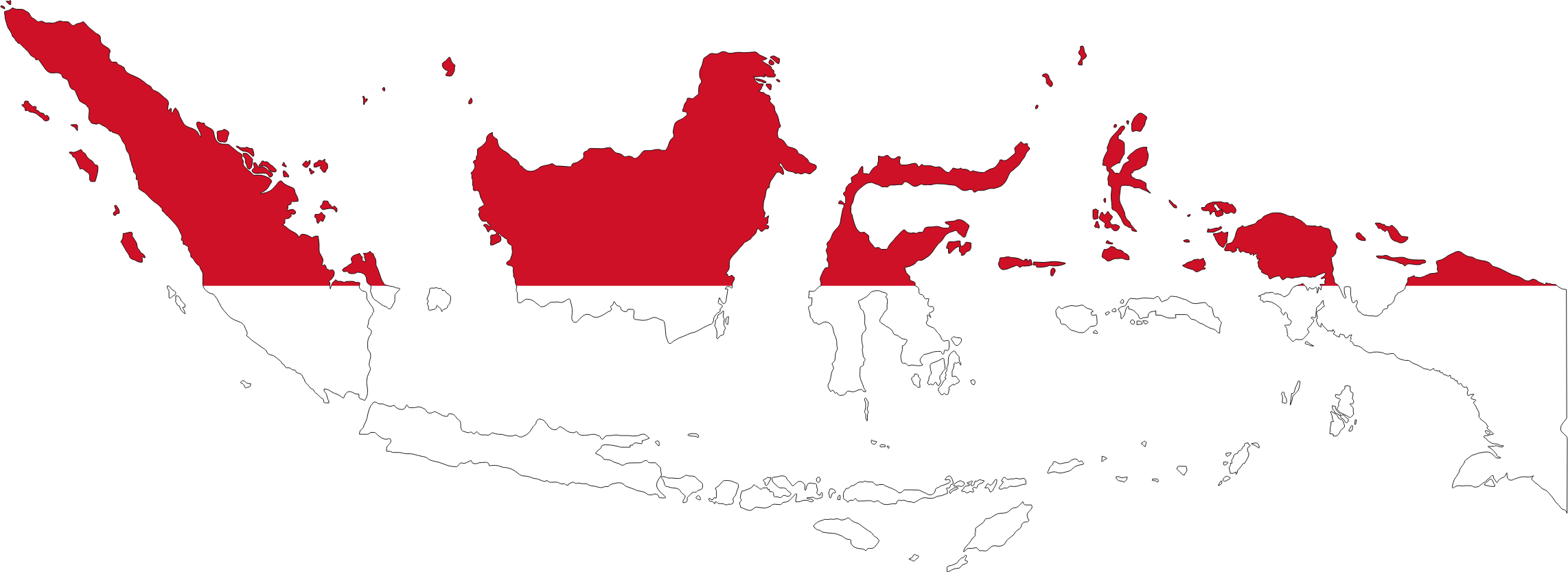 Indonesia Map Flag With Stroke by GDJ