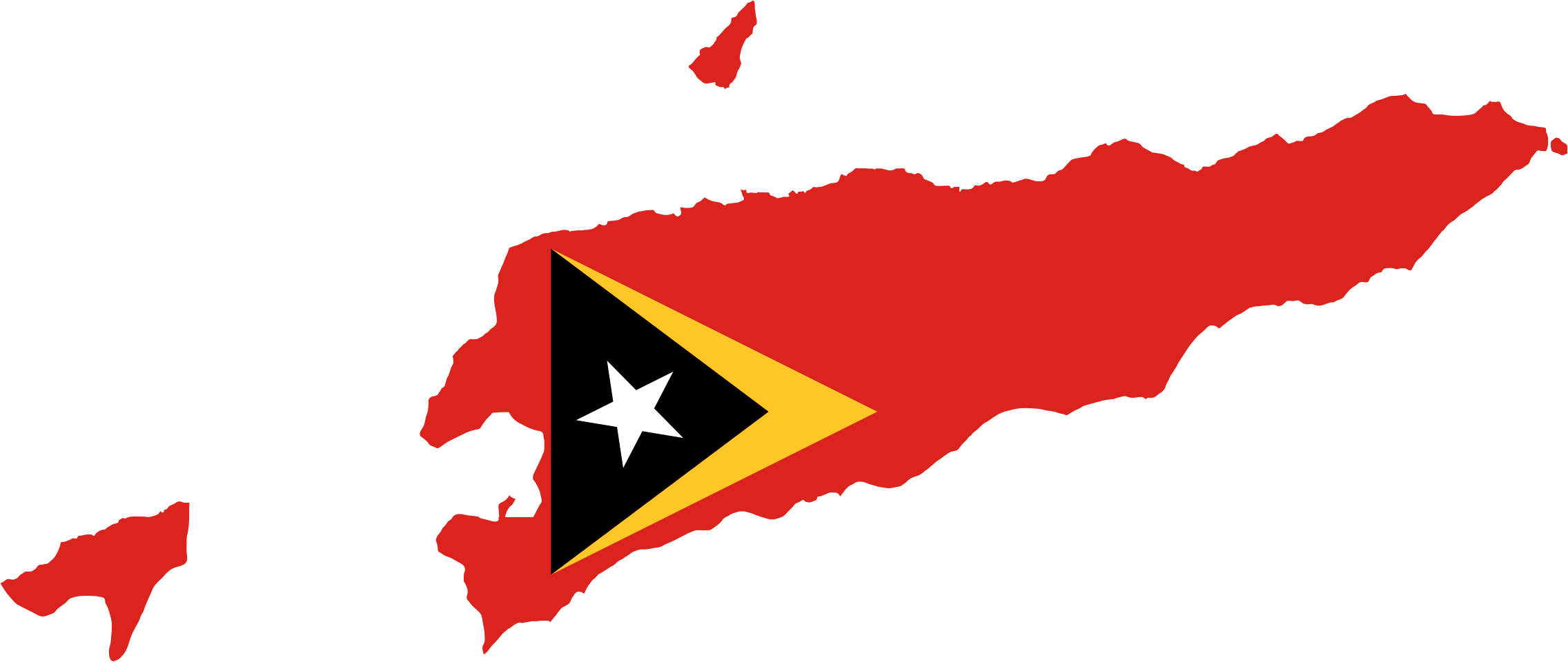 East Timor Map Flag by GDJ