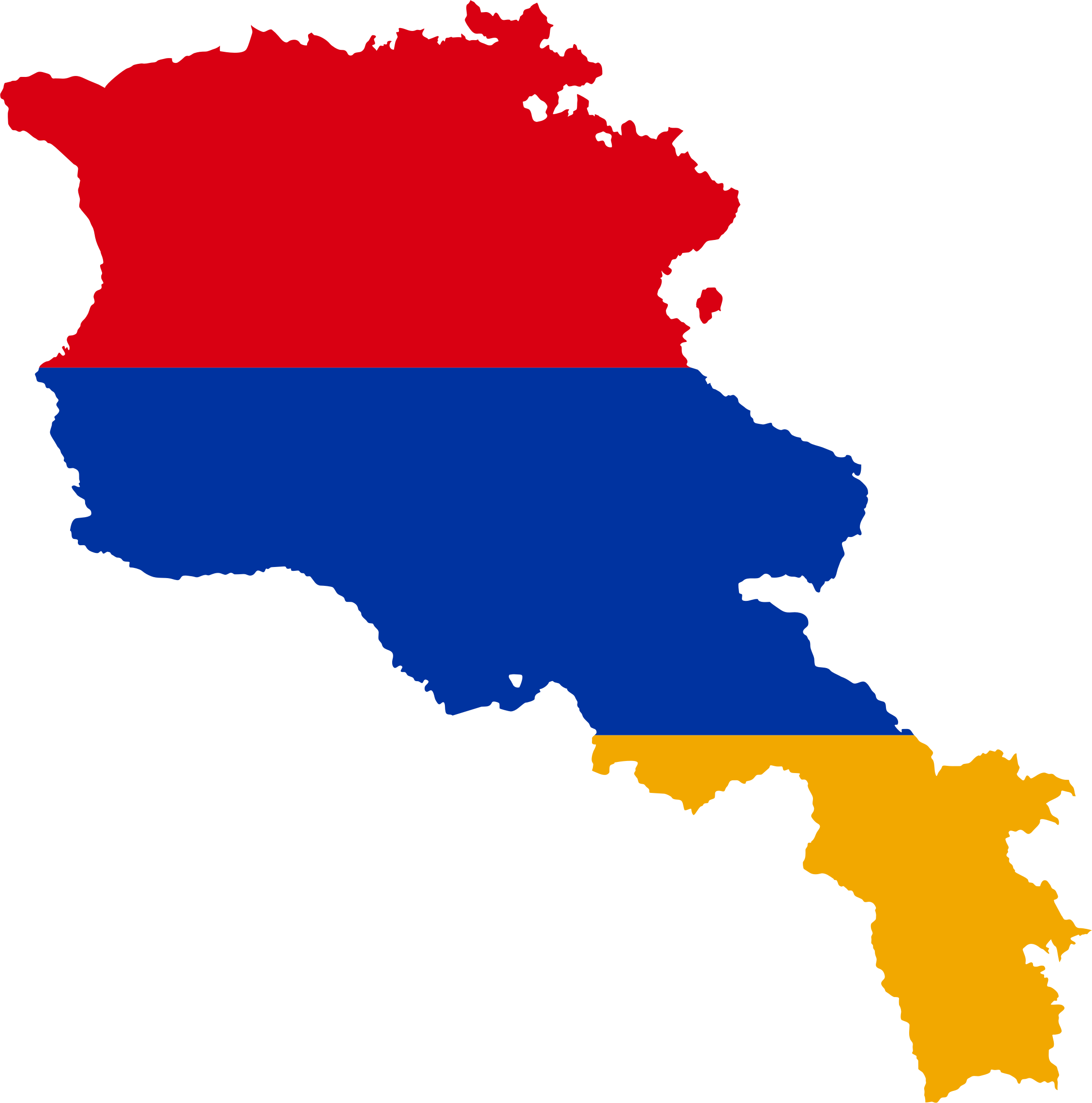 Armenia Map Flag by GDJ