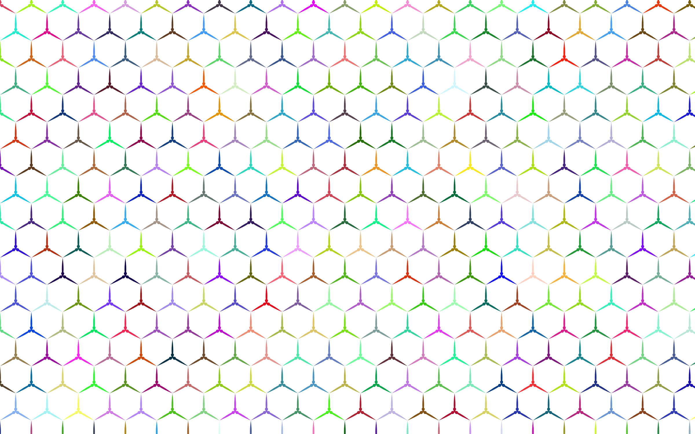 Prismatic Hexagonalism Pattern No Background by GDJ