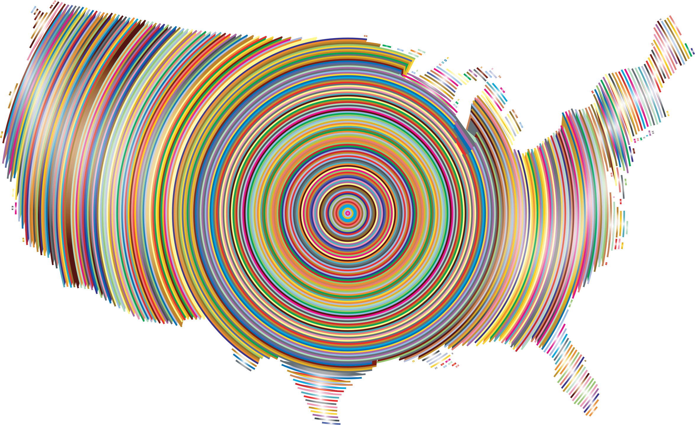 Prismatic United States Concentric Circles 2 by GDJ