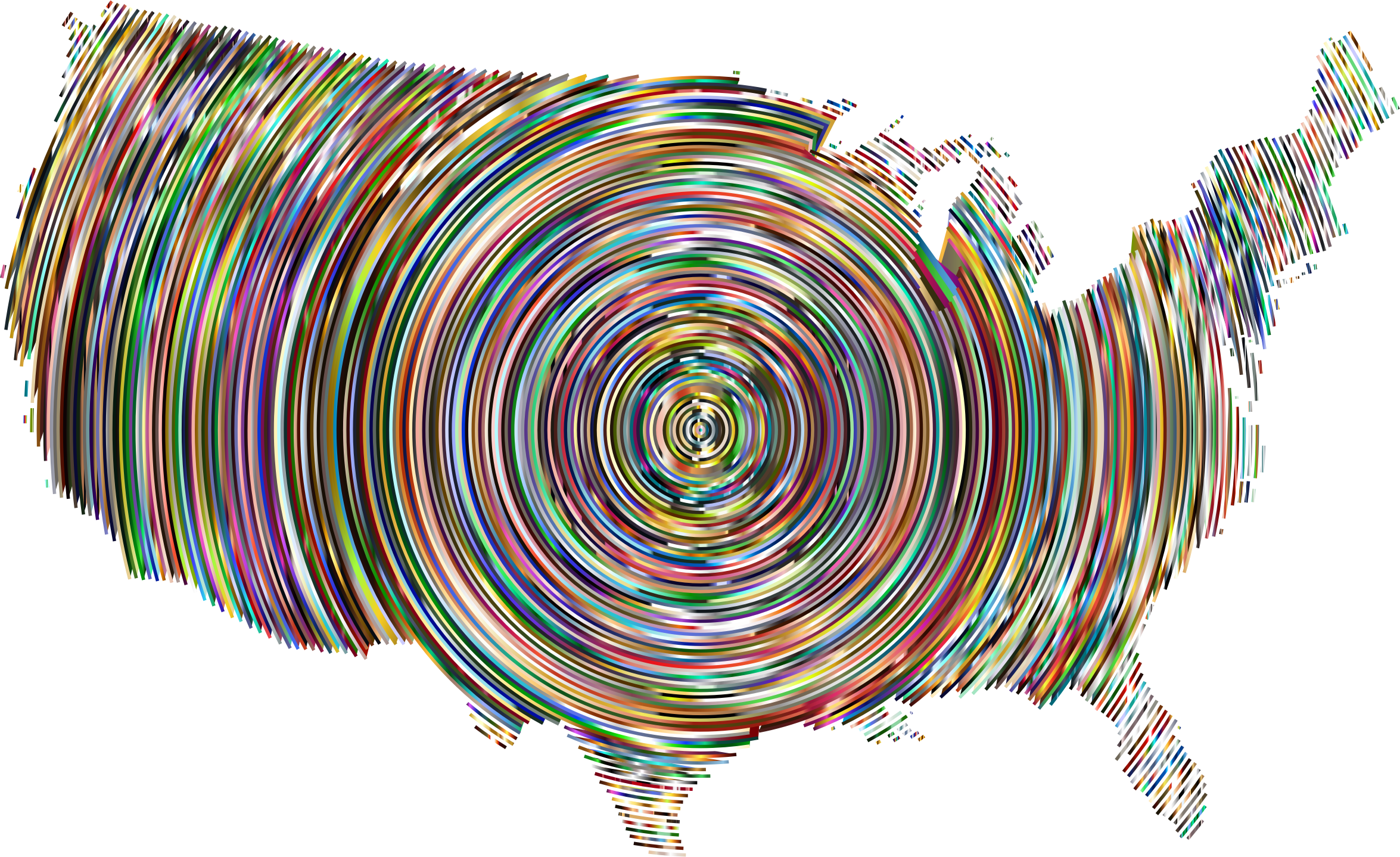 Prismatic United States Concentric Circles 5 by GDJ