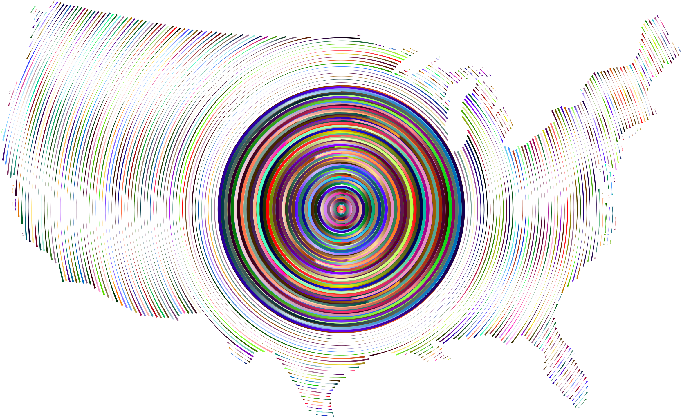 Prismatic United States Concentric Circles 6 by GDJ