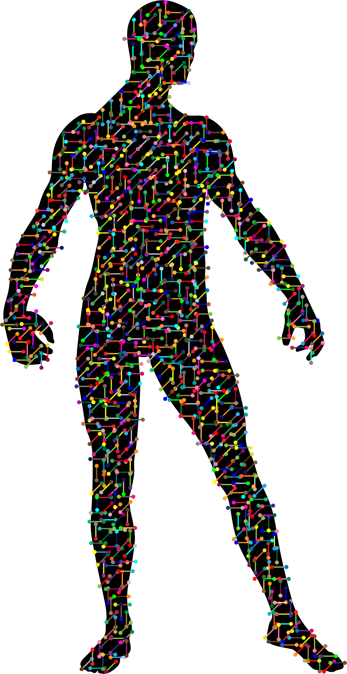 Prismatic Molecular Man With Background by GDJ