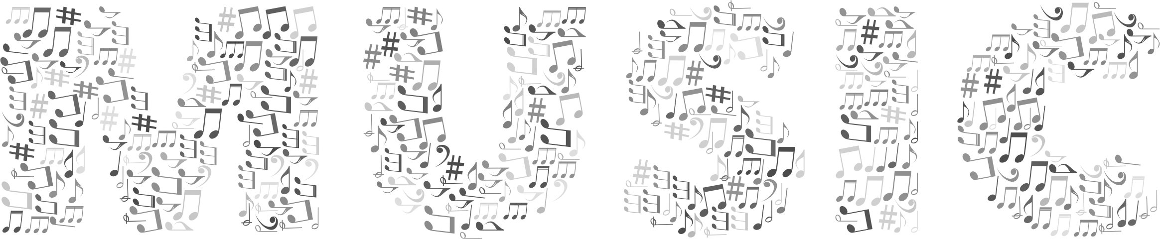 Music Typography Grayscale by GDJ