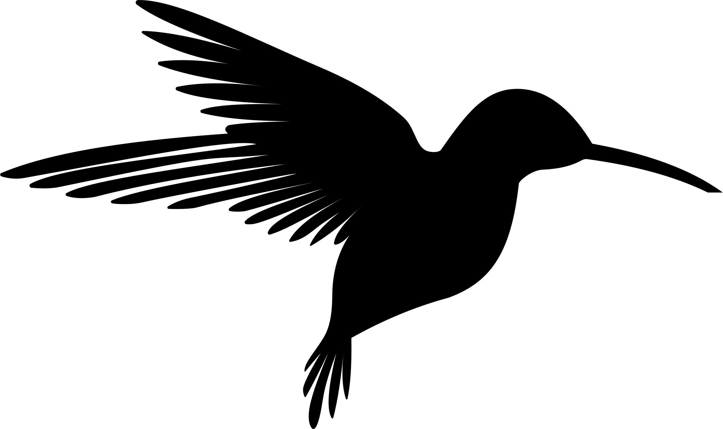 Clipart - Hummingbird Silhouette 3