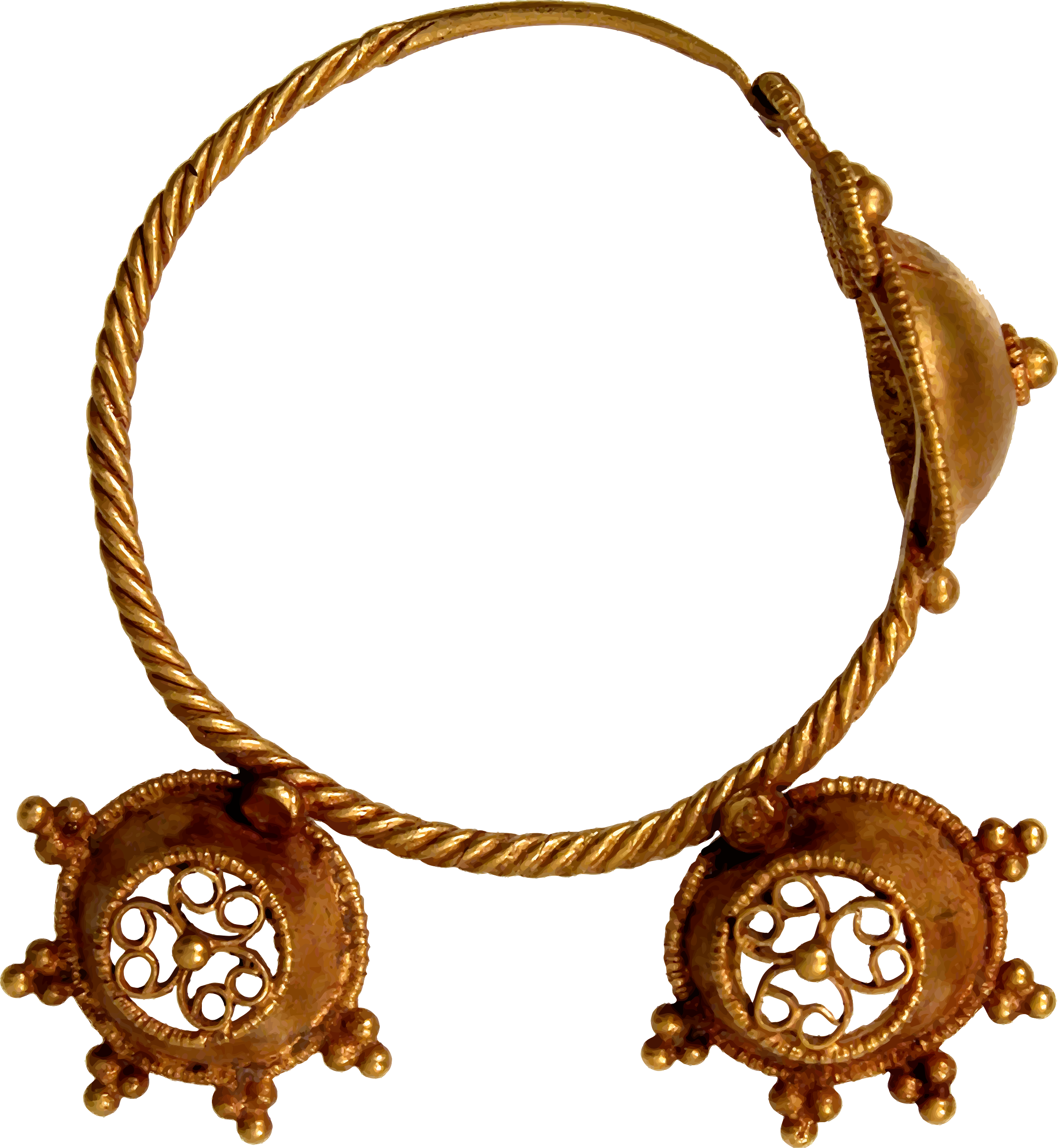 7th century earring by Firkin