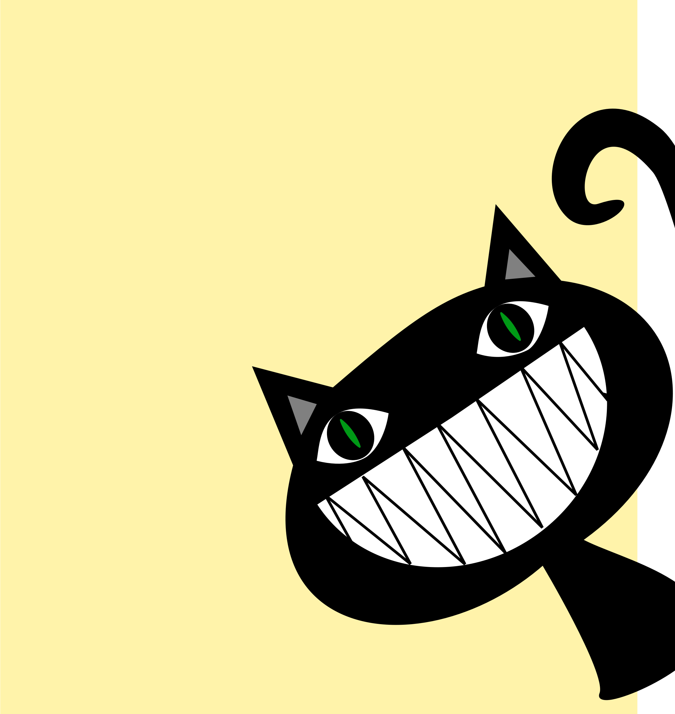 Clipart - Cat peeking