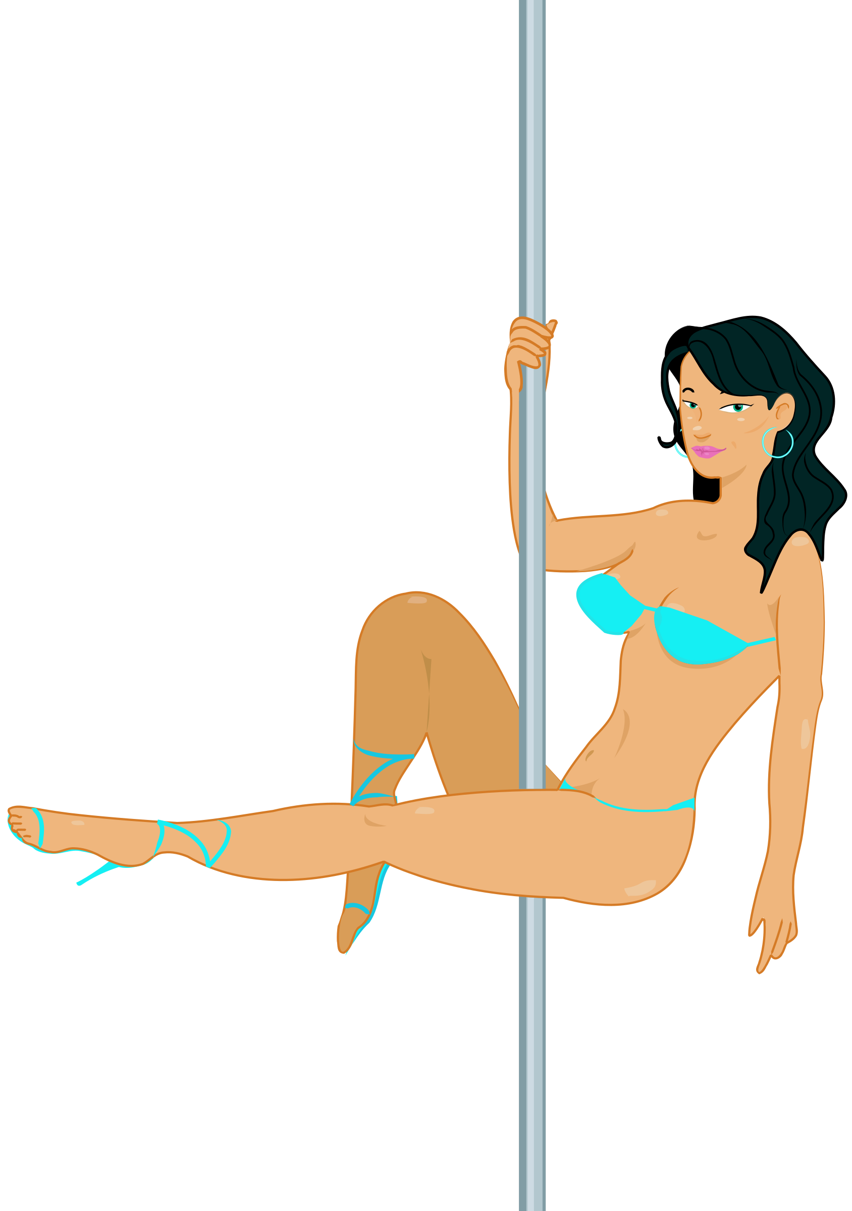 Action in Nude stripper