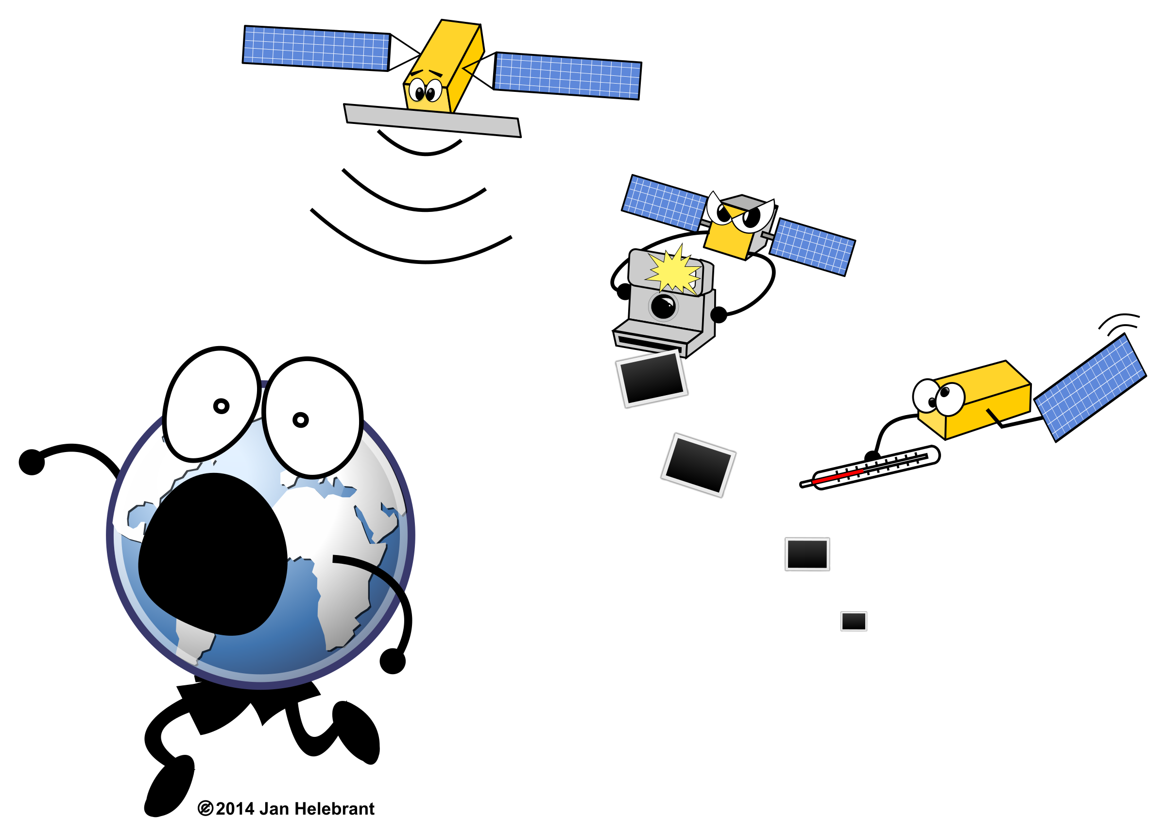 Cartoon Sentinel satellites / parody by Juhele