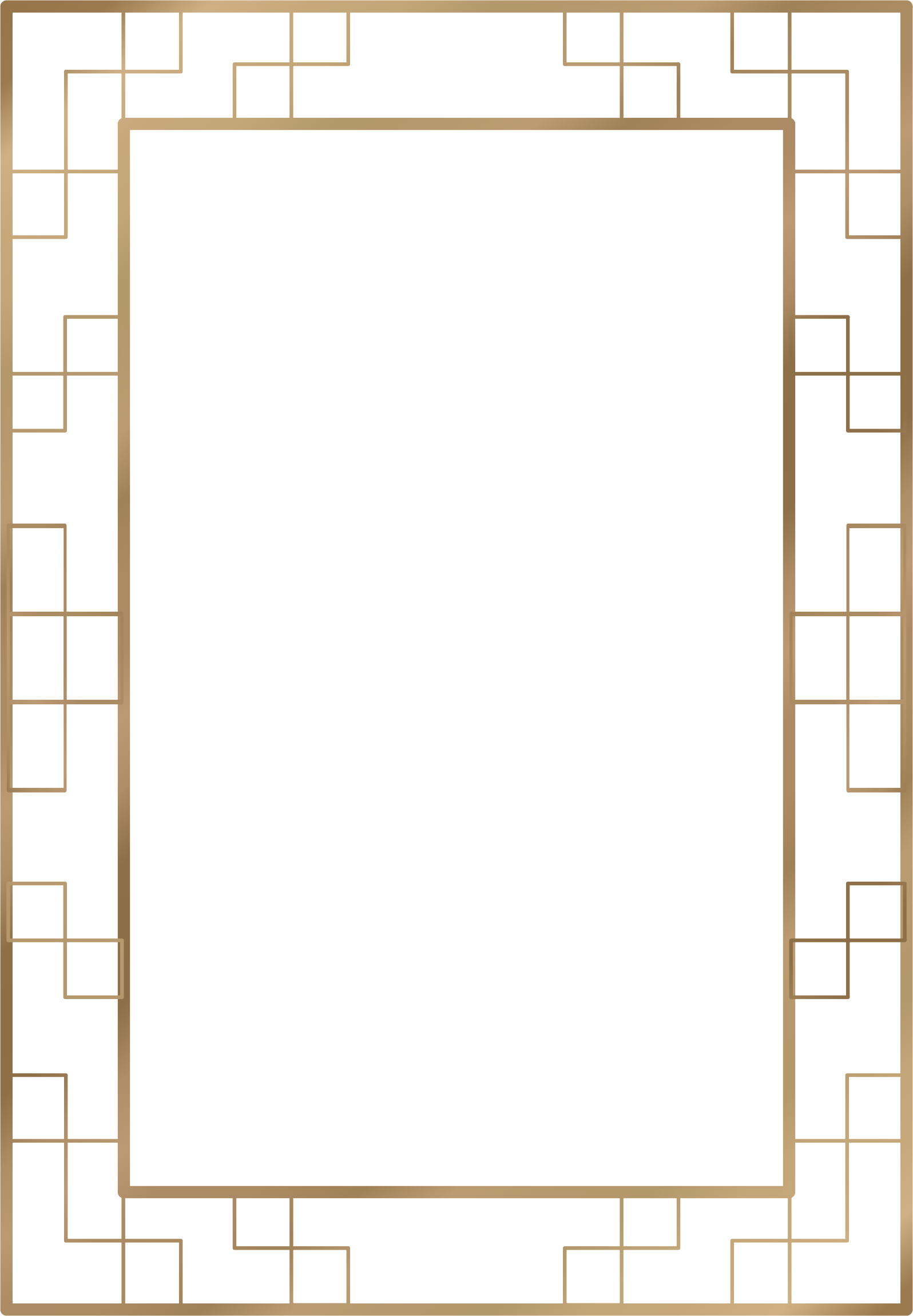 Art Deco Border 7 (A4 size) by Arvin61r58