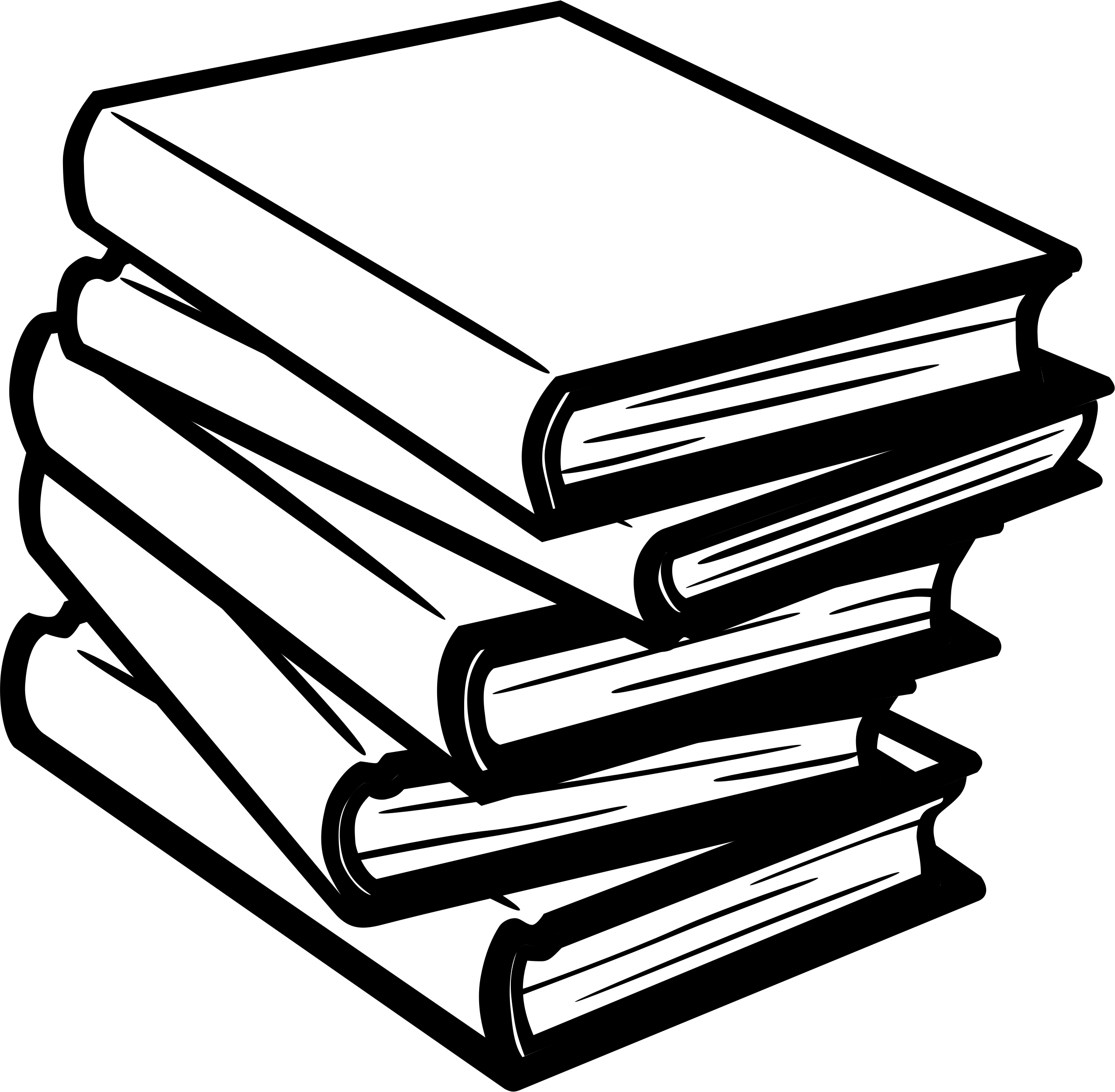 Books - Lineart - No Shading by amcolley