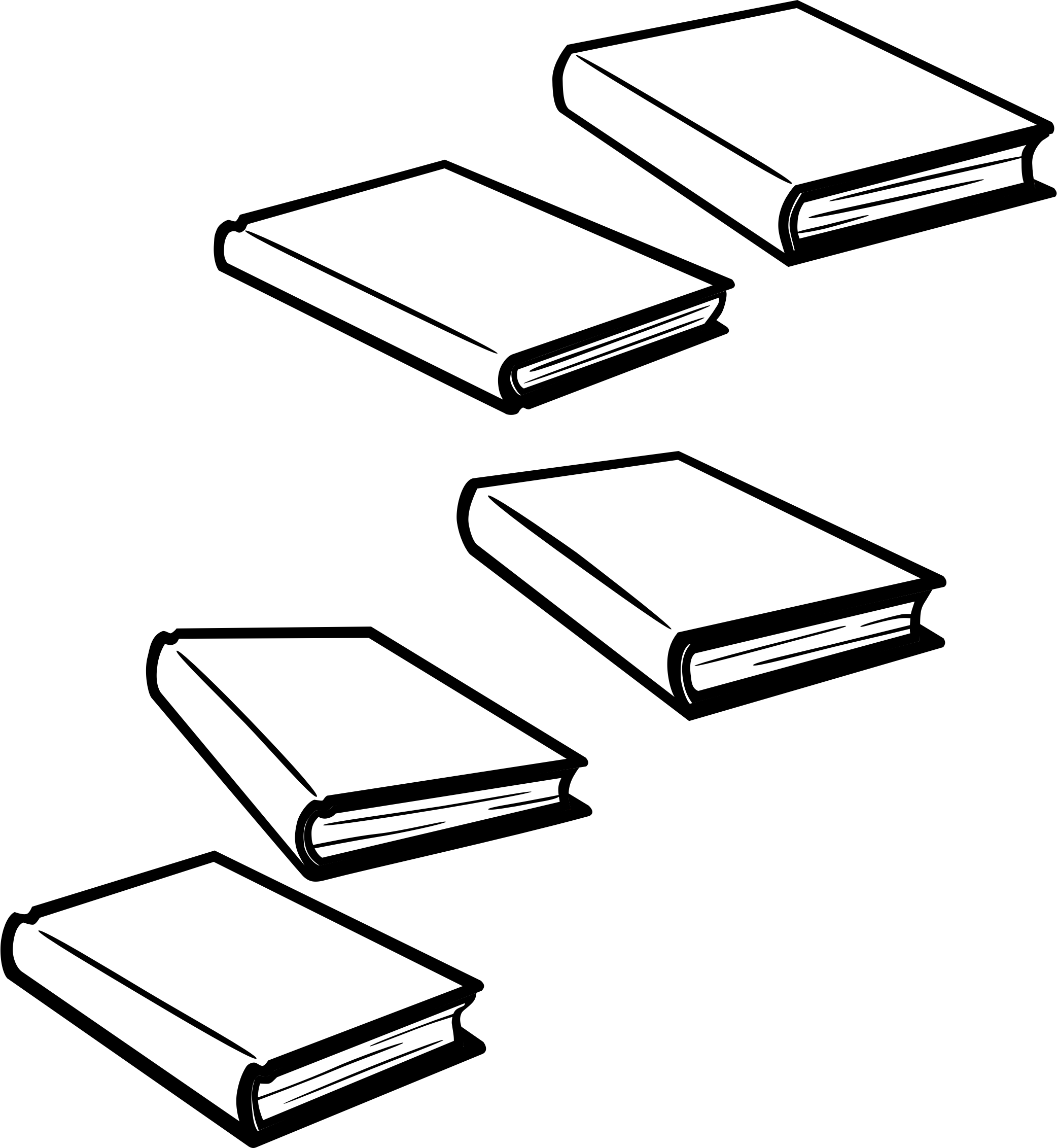 Books - Lineart - Separated by amcolley