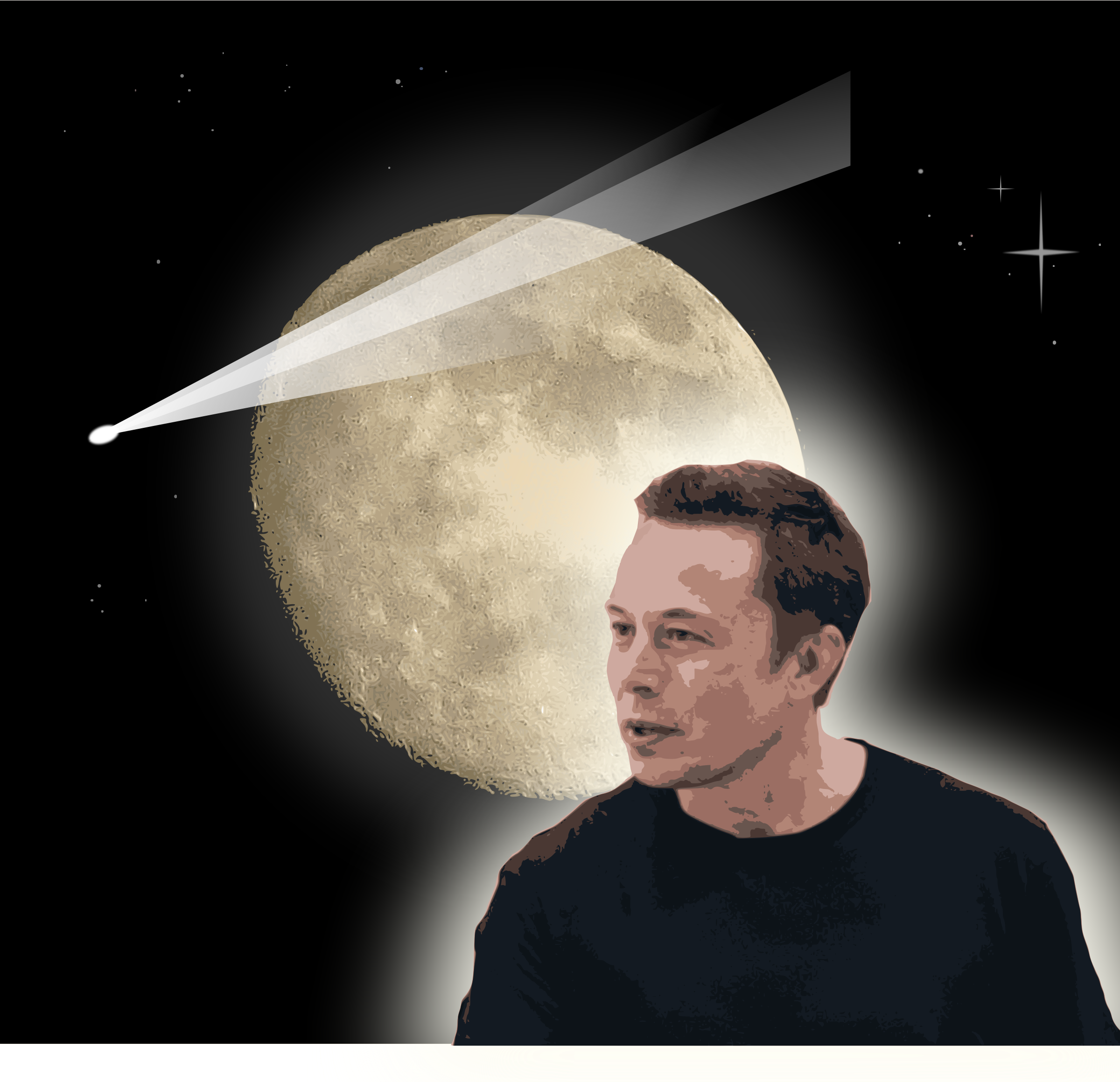 Elon Musk and the Moon by j4p4n