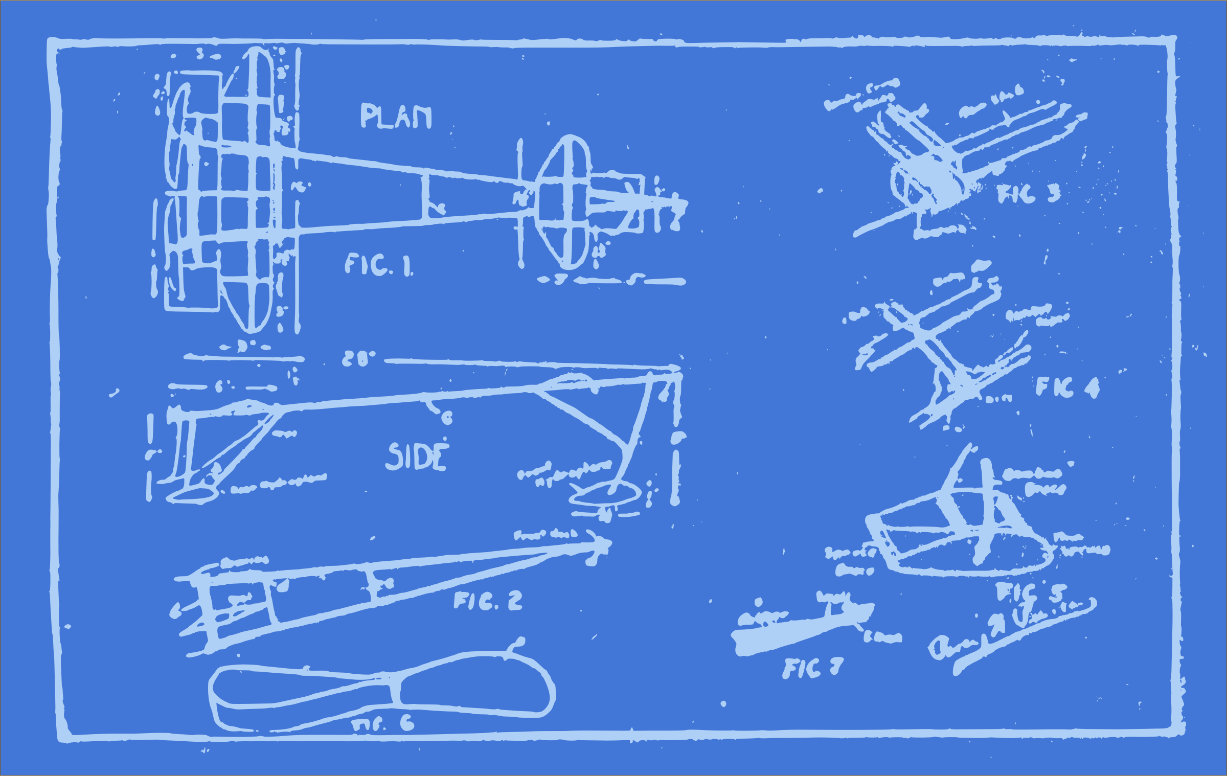 Blueprint of an Airplane by j4p4n