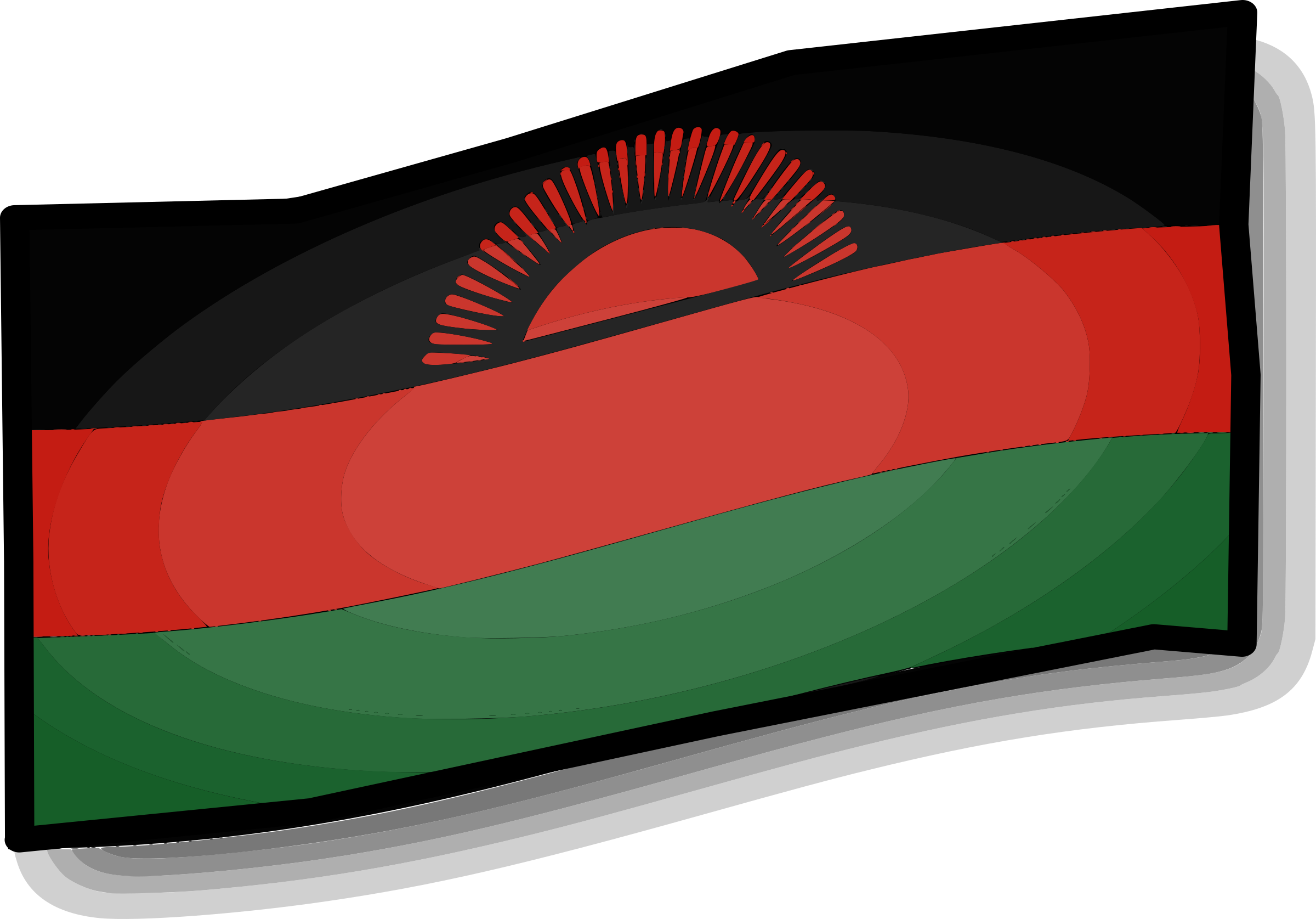 Artsy Malawi Flag by j4p4n