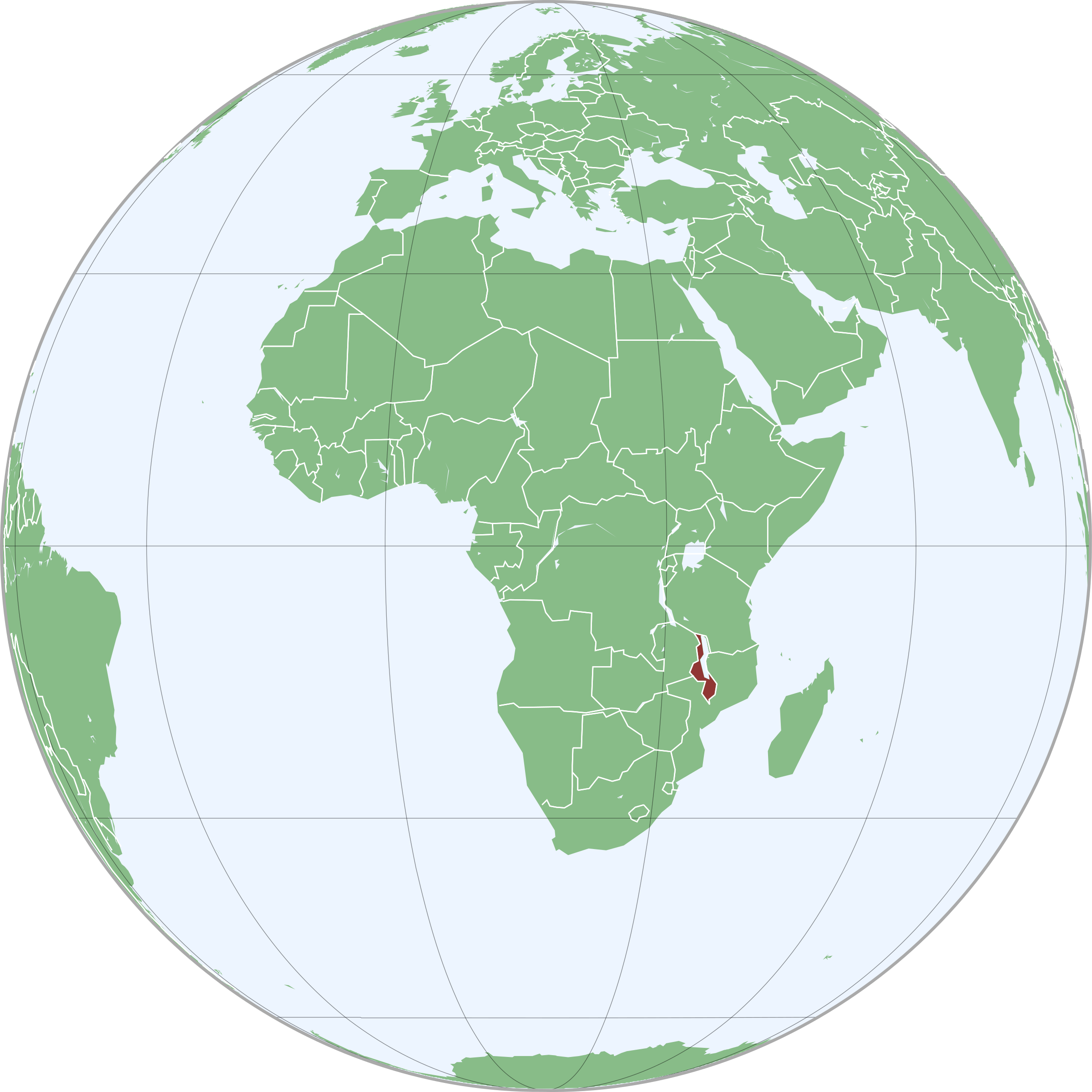 Map of Malawi in Africa by j4p4n