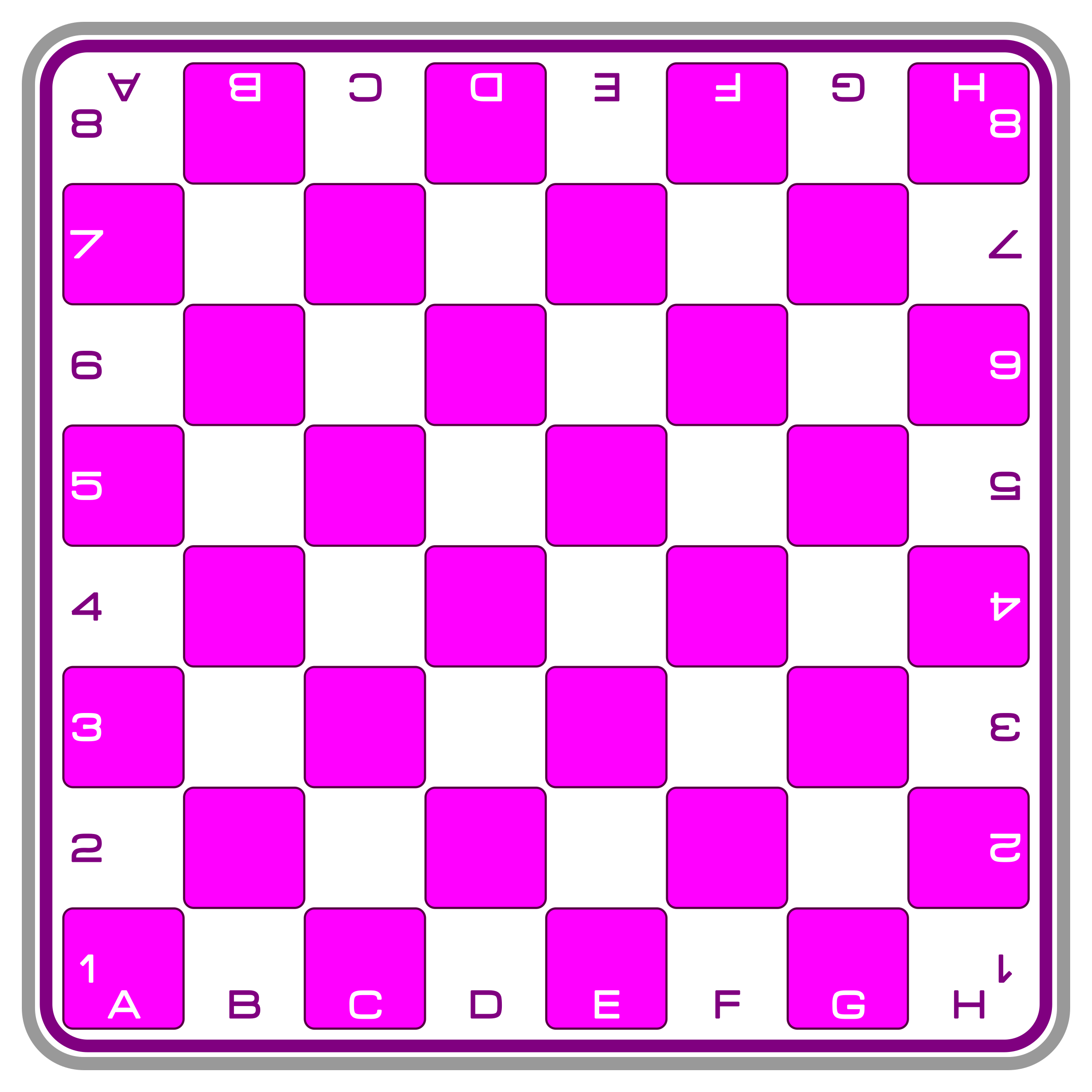 Chessboard - Modern Pink by DG-RA