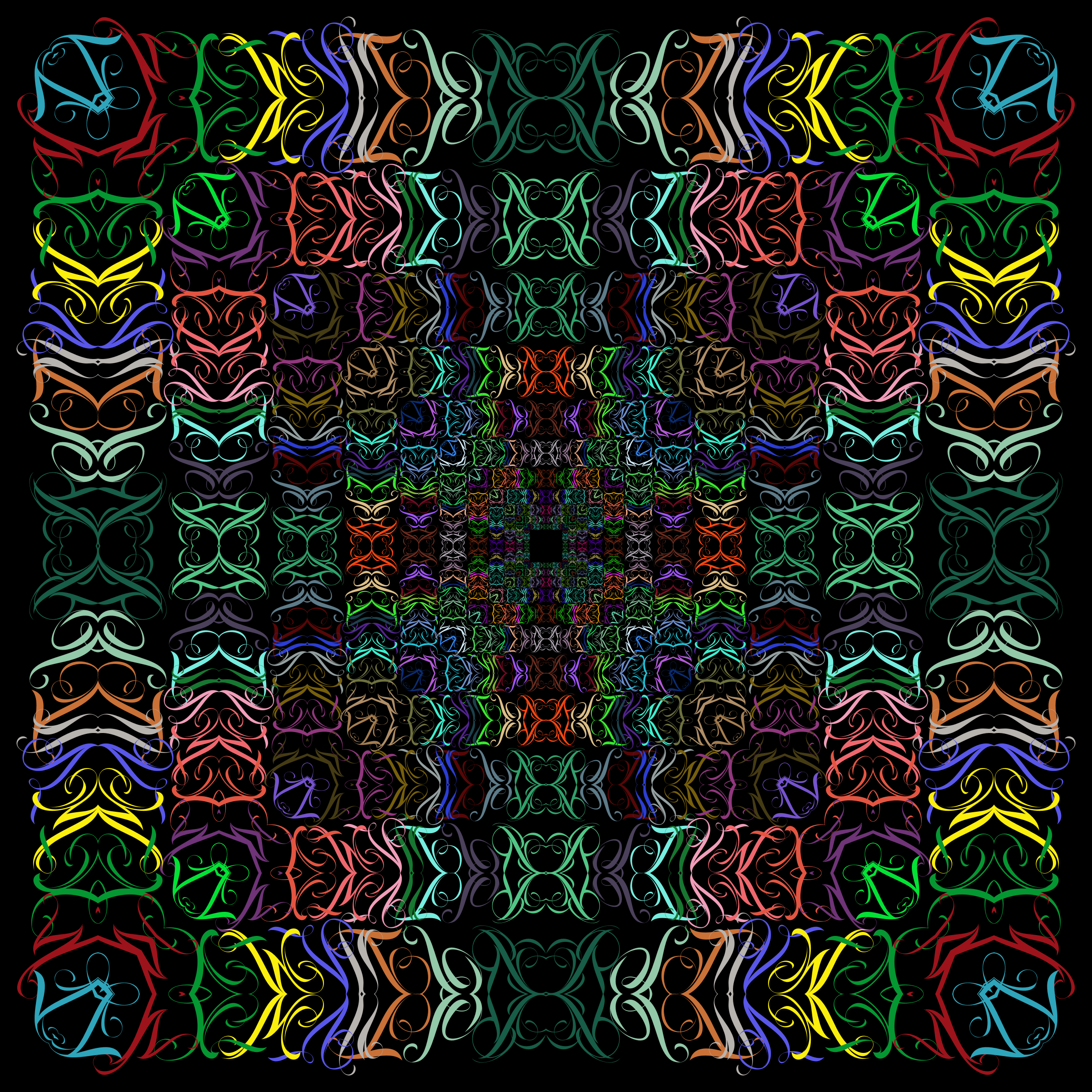 Prismatic Abstract Tribal Style Design by GDJ