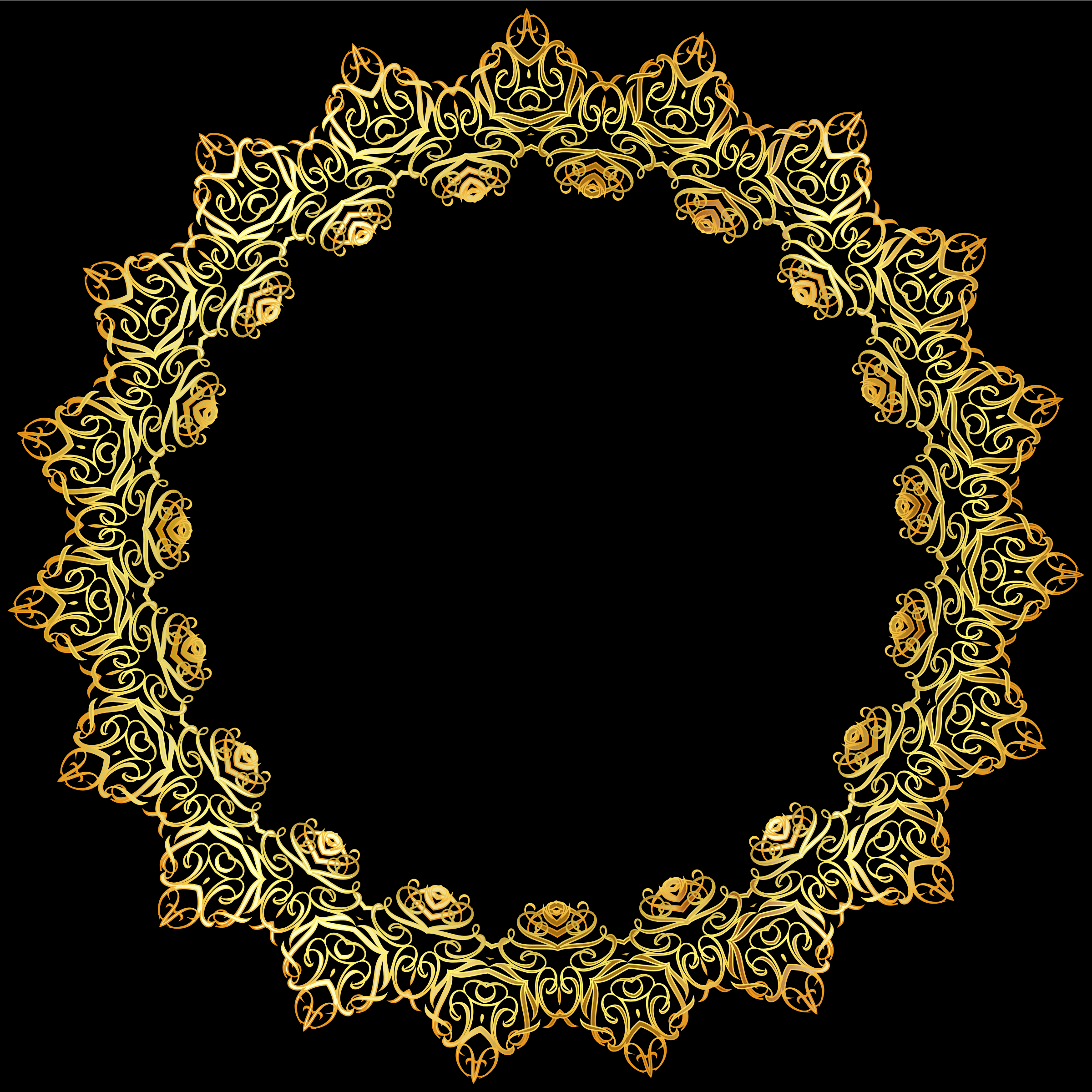 Gold Abstract Elegant Frame by GDJ